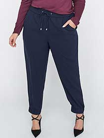 Pull-On Ankle Jogger Pant with Drawstring - Michel Studio