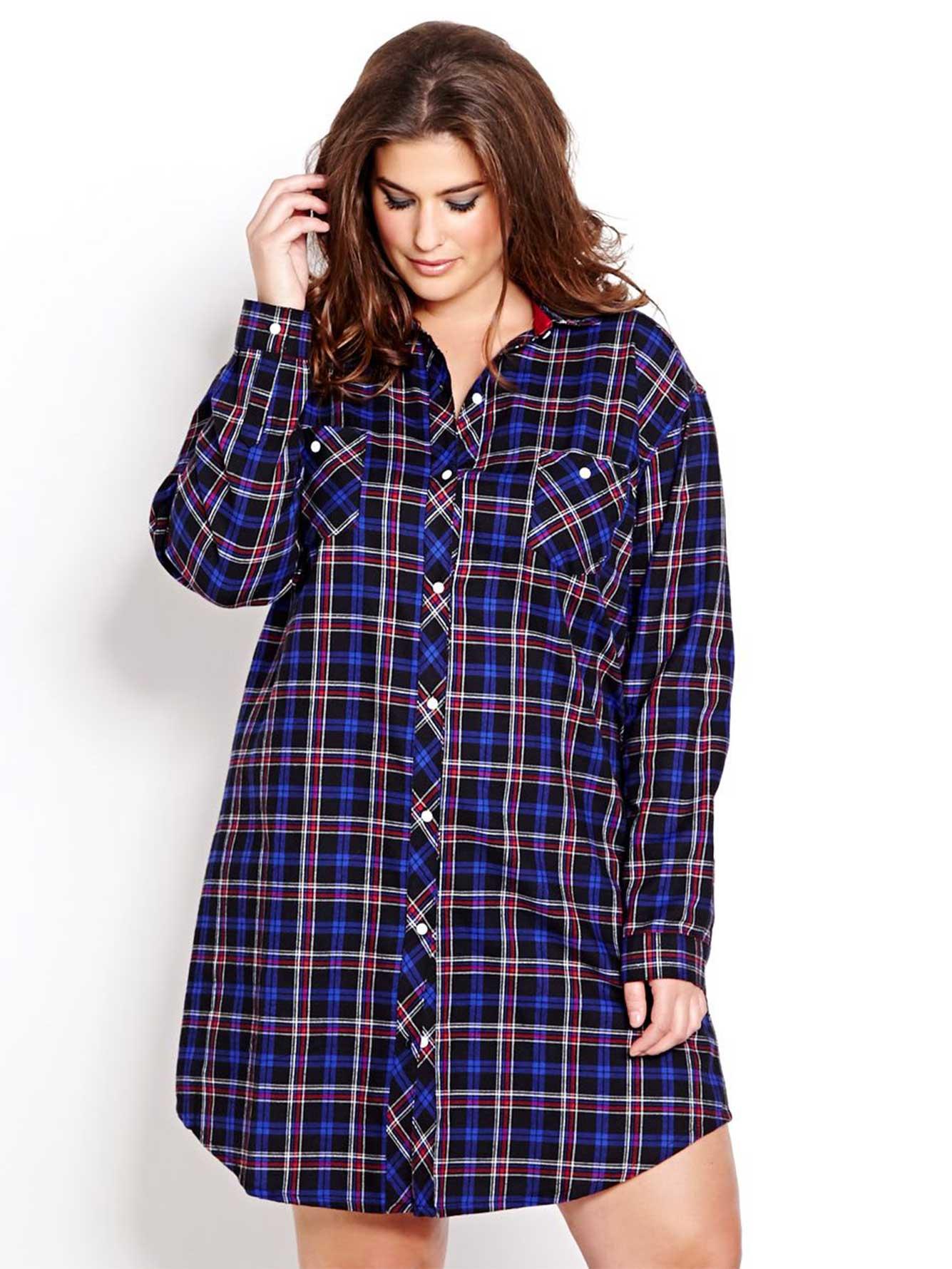 chemise de nuit en flanelle carreaux bonne nuit addition elle. Black Bedroom Furniture Sets. Home Design Ideas