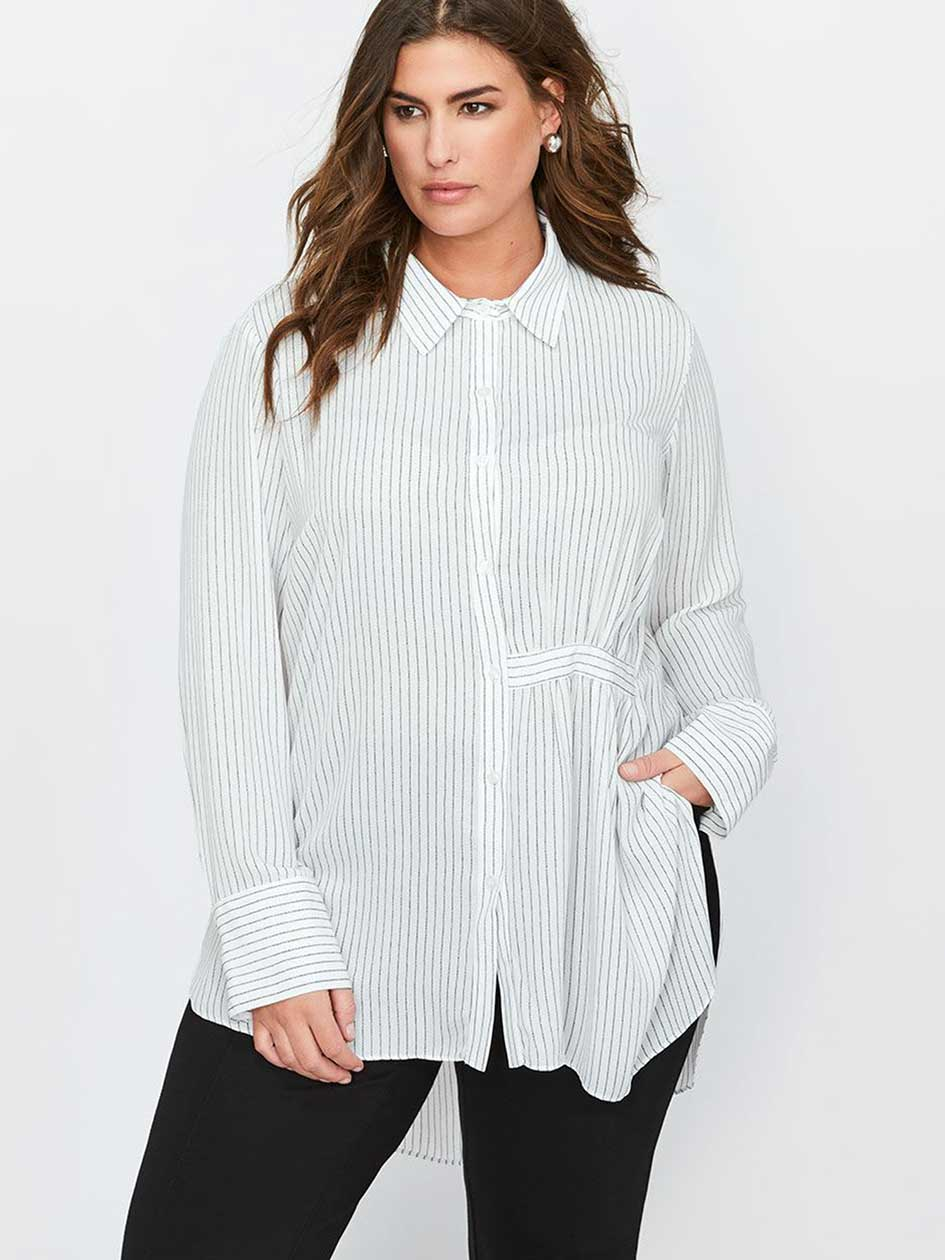 Rachel Roy Long Asymmetric Shirt