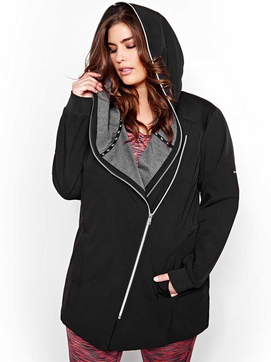 Nola Asymmetrical Hooded Jacket