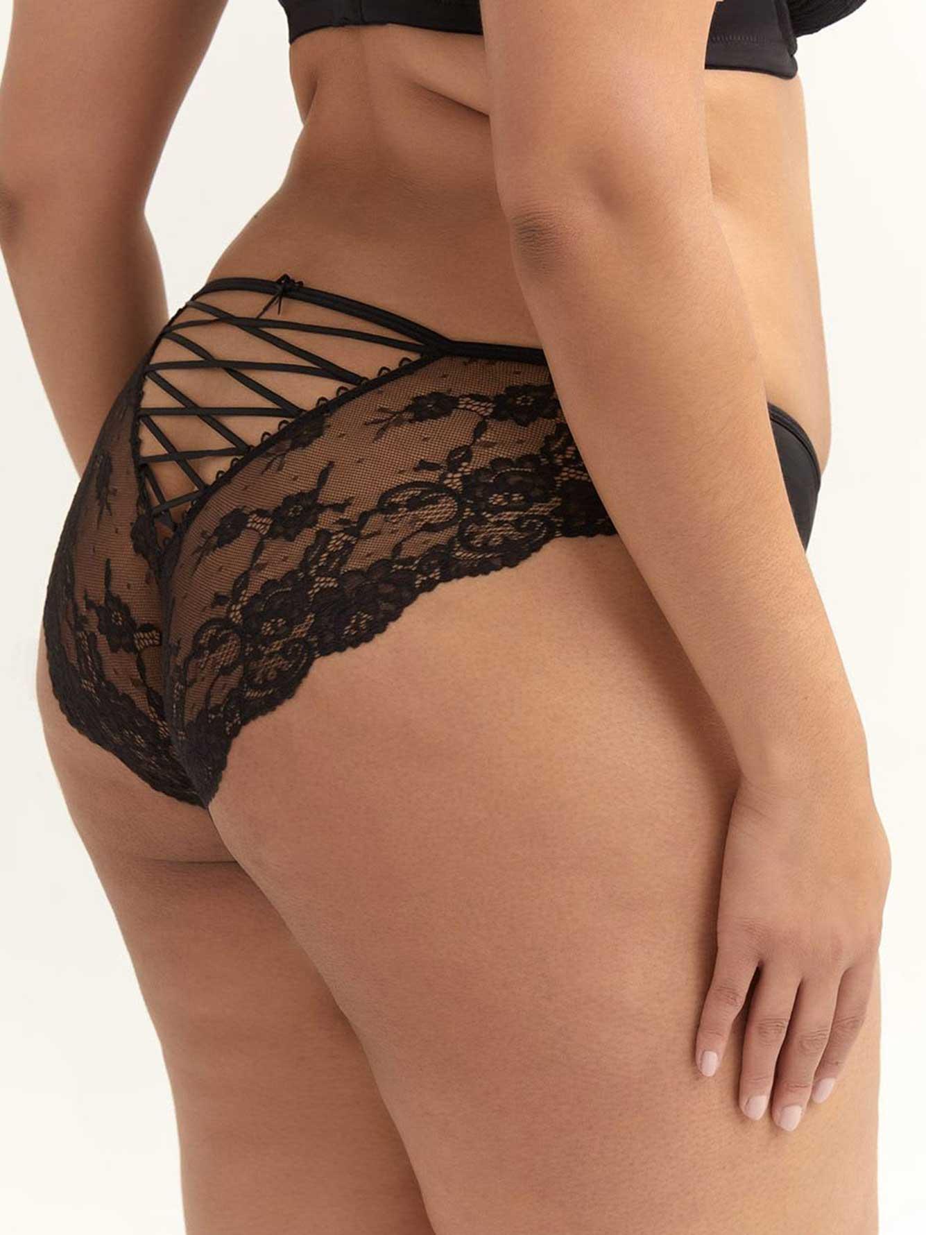 b048929f81c42 Low Rise Bikini Panty with Back Lace-Up - Ashley Graham