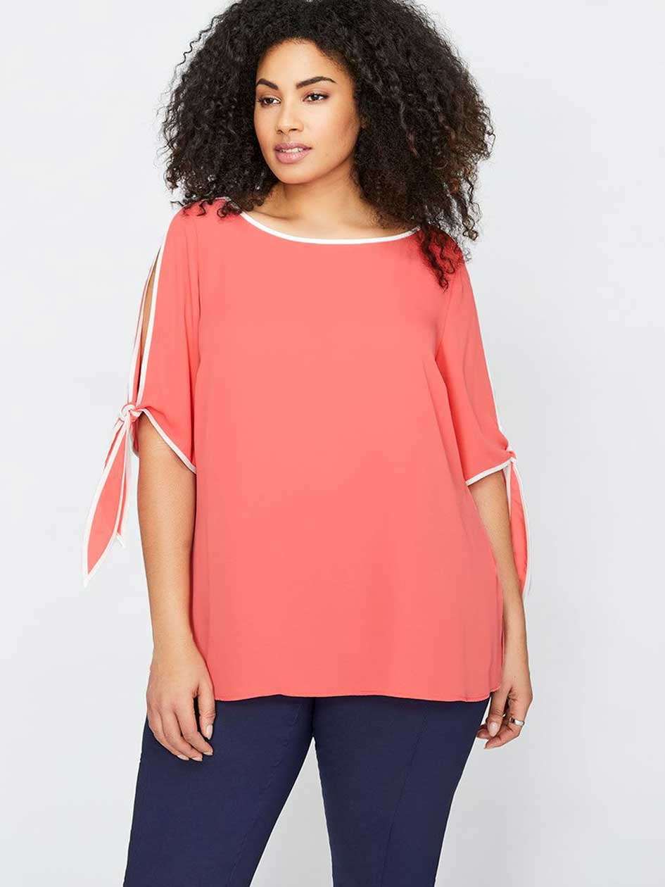 Michel Studio Elbow Sleeve Blouse