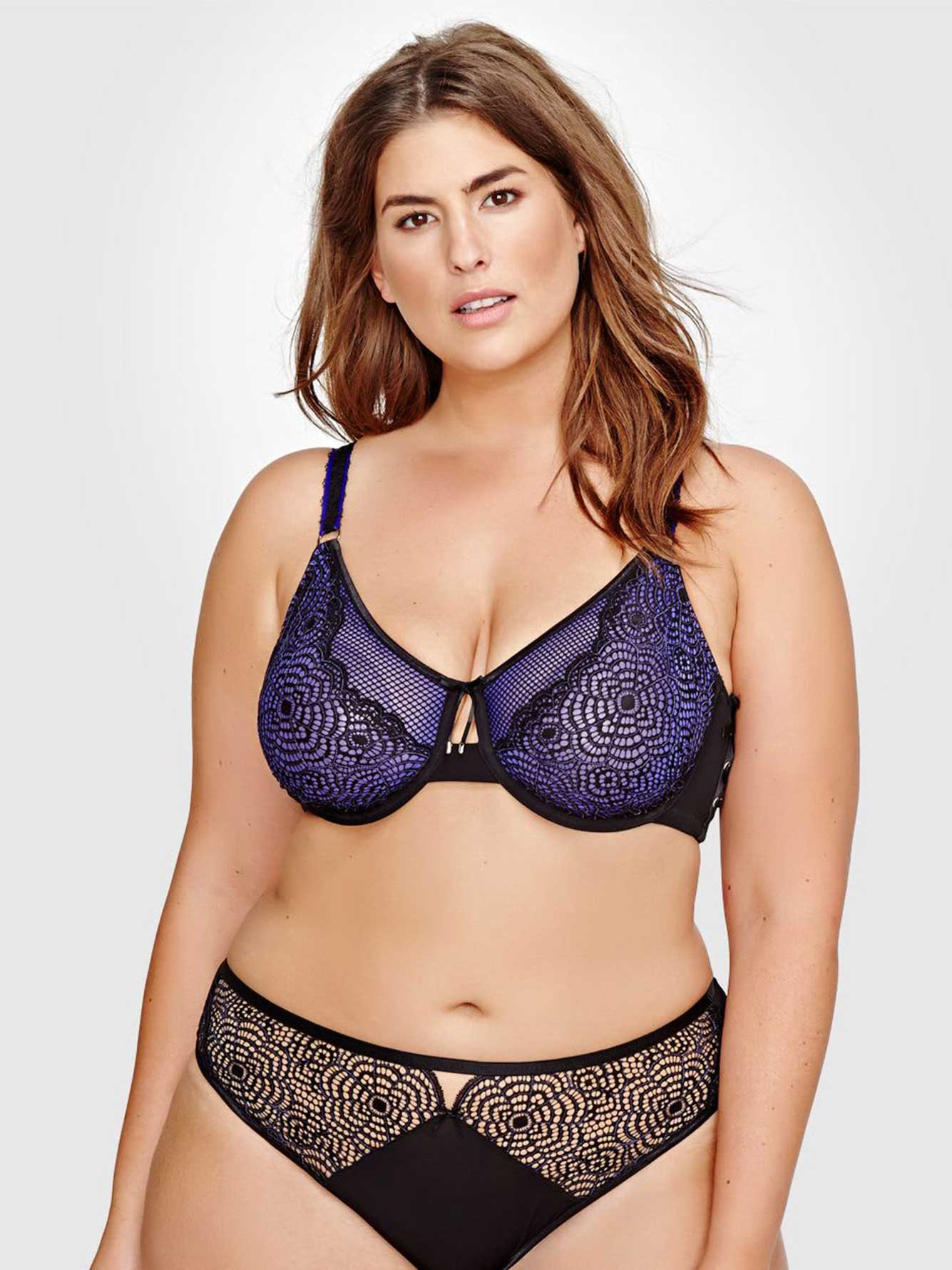66ce23ab823 Ashley Graham Fatal Attraction Bra with Laced Up Side