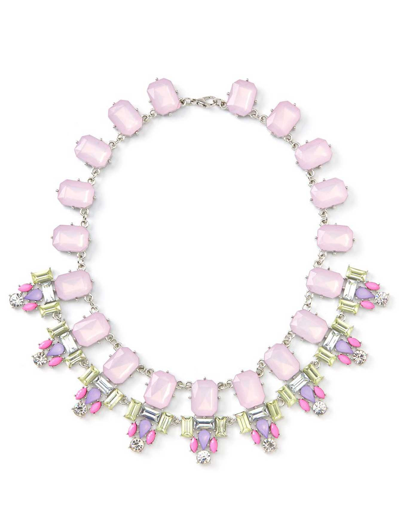 Pink Multi-Stone Necklace