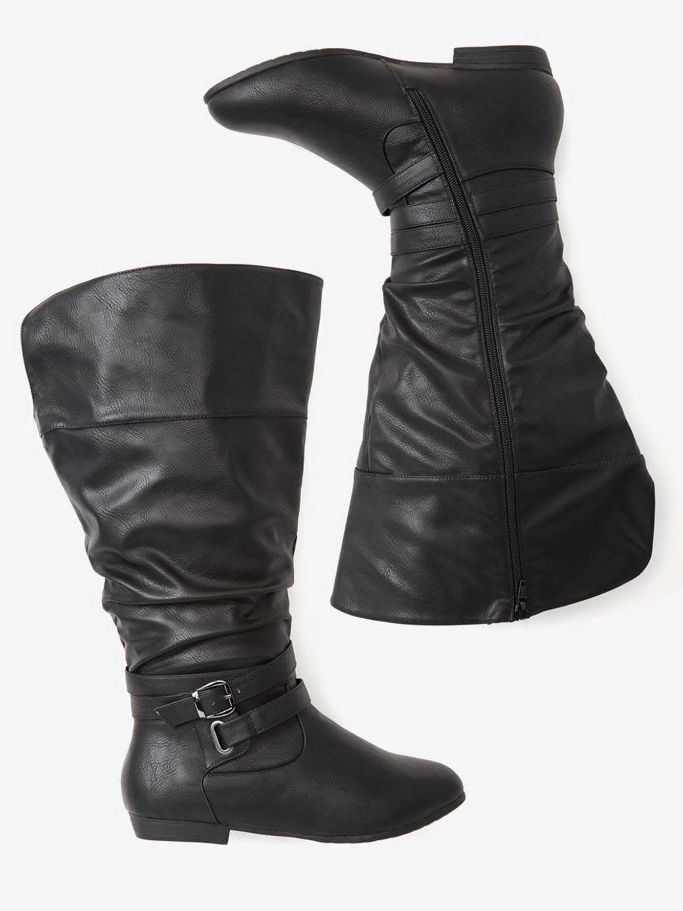 daec66f39115 Double Wide Ruched Boot | Addition Elle