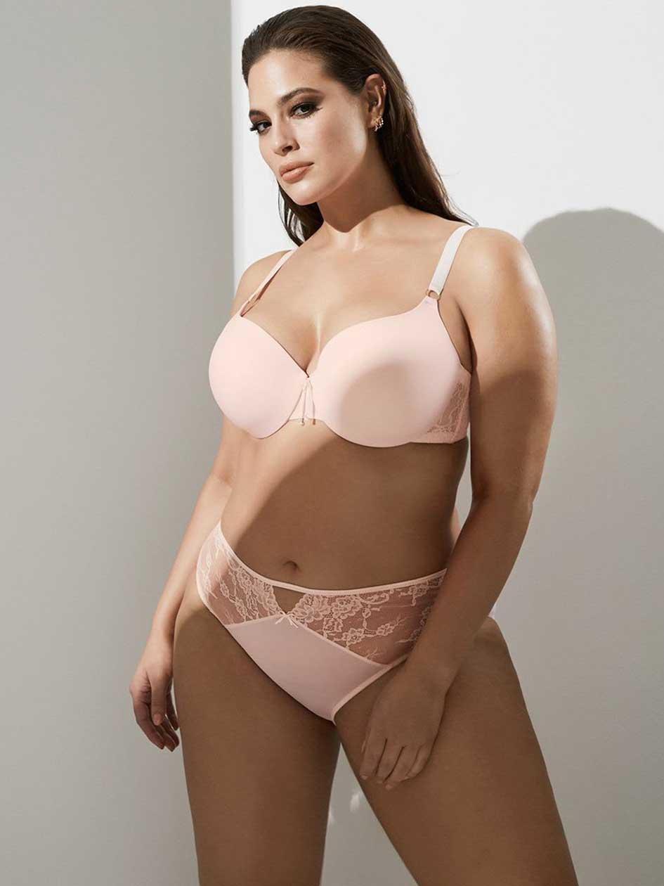 Ashley Graham Lace and Micro Fiber Icon T-shirt Bra