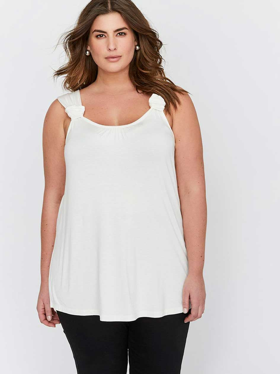 Michel Studio Swing Top with Knotted Strap Details