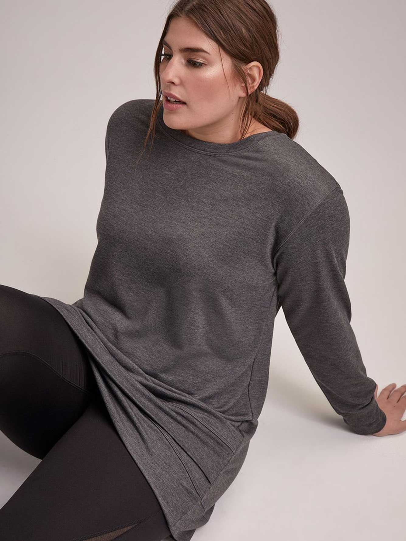 Crew-Neck Tunic with Tulip Hem - Nola
