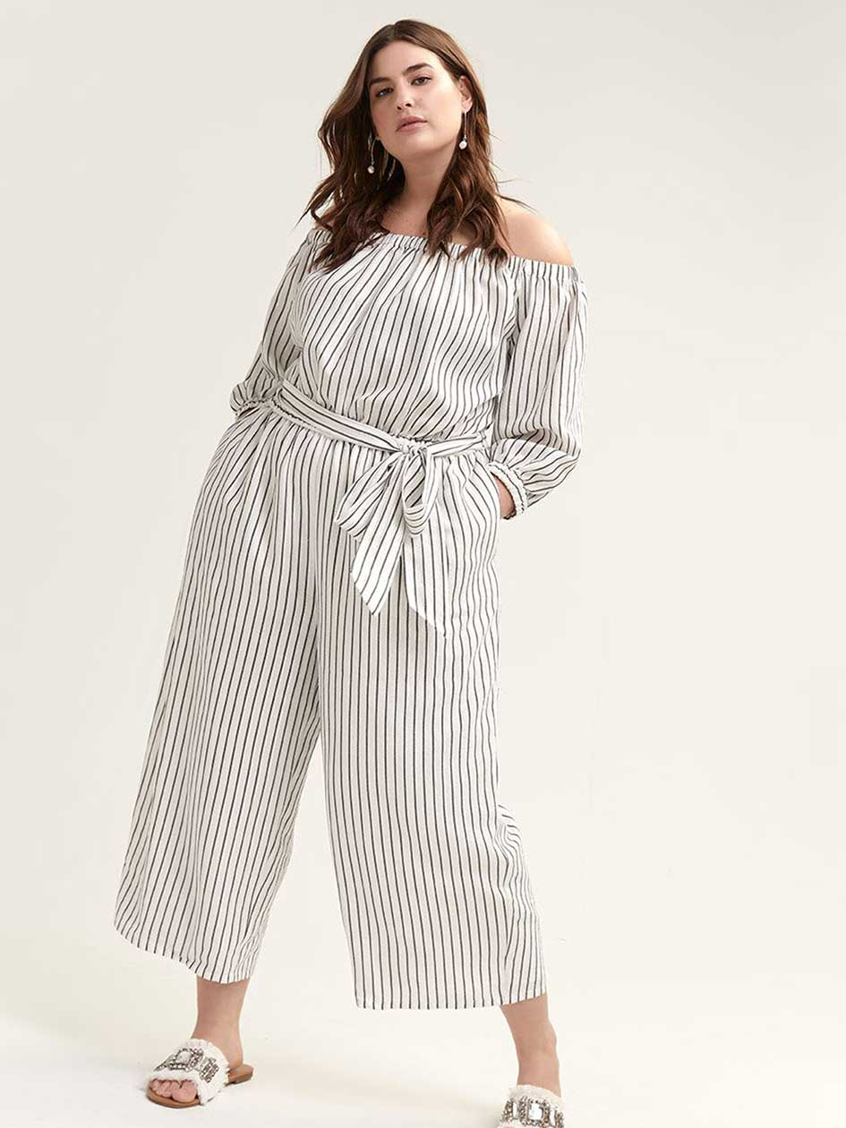 b28096e2e8ae Off-the-Shoulder Tie-at-Waist Aida Jumpsuit - RACHEL Rachel Roy