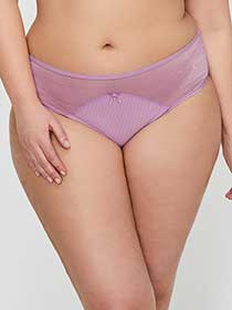 Ashley Graham High Cut Shadow Stripe Panty