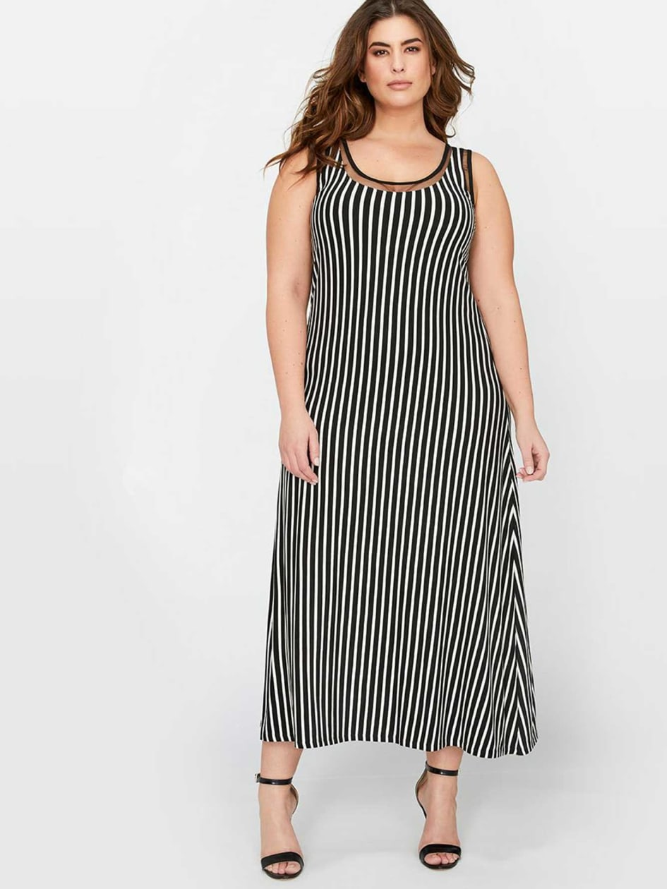 Michel Studio Striped Maxi Dress