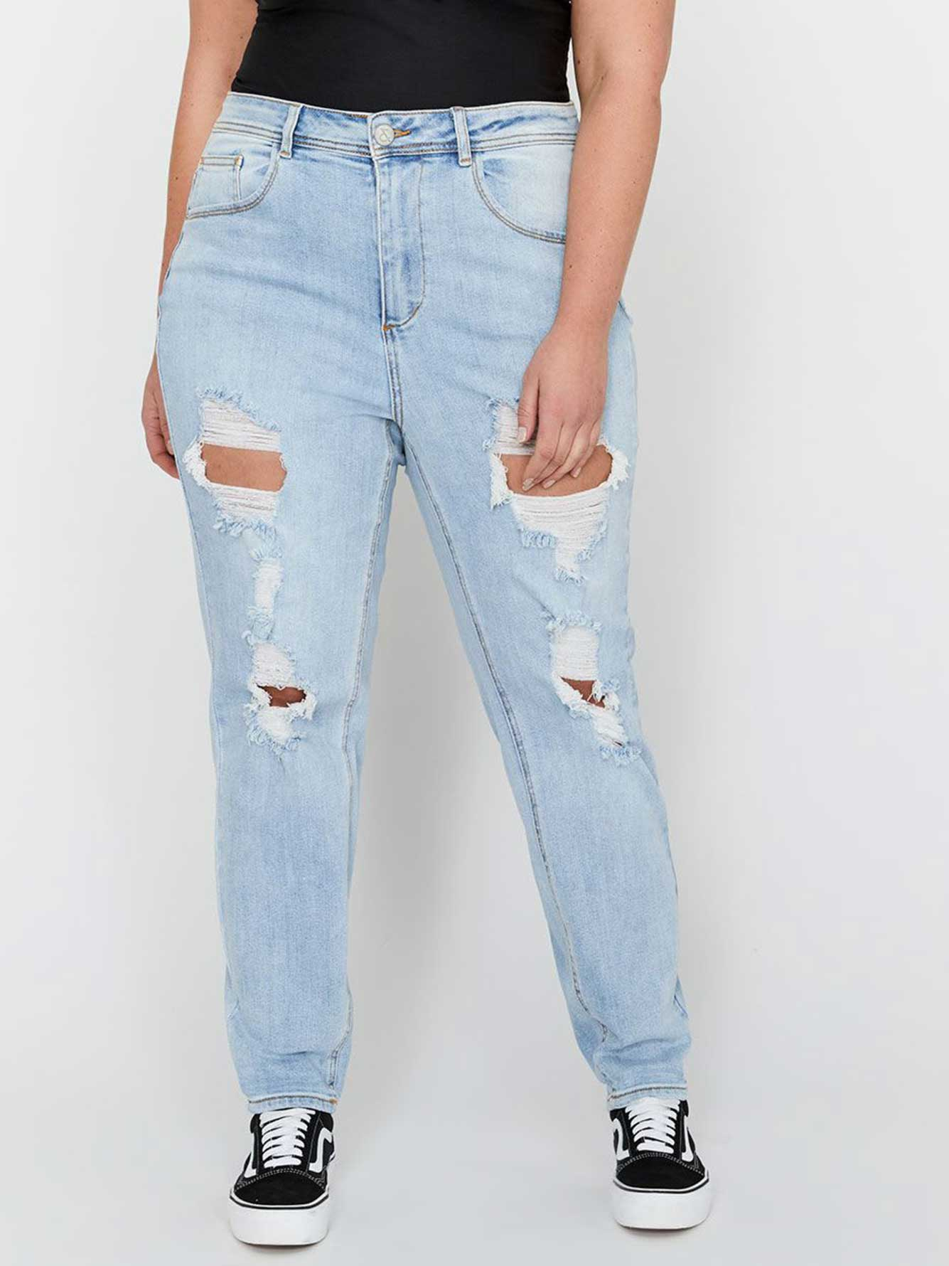 224e07bd L&L X Jordyn Woods Heavy Ripped High Waist Mom Jeans | Addition ...