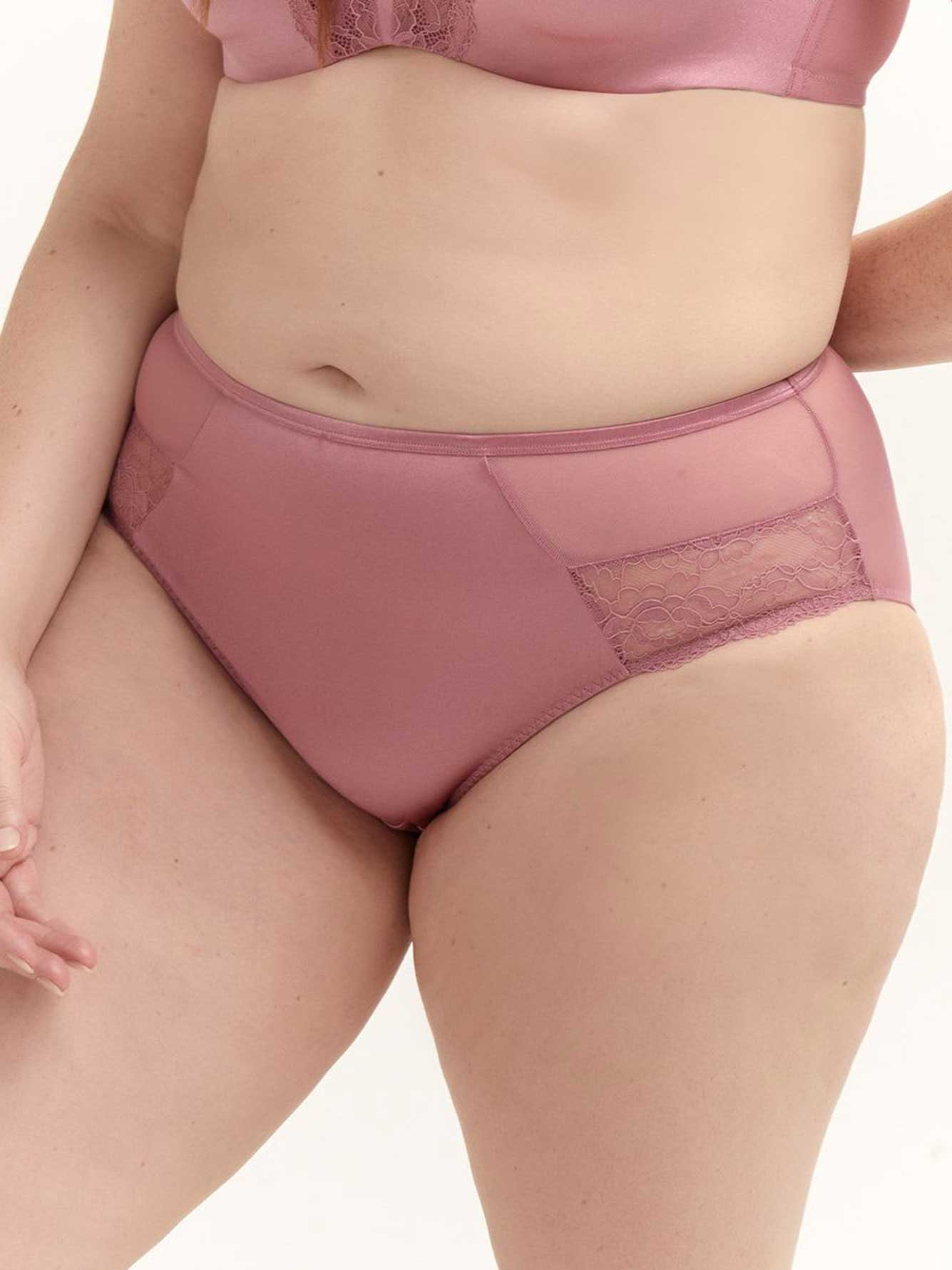 High Cut Panty with Lace Detail - Déesse Collection