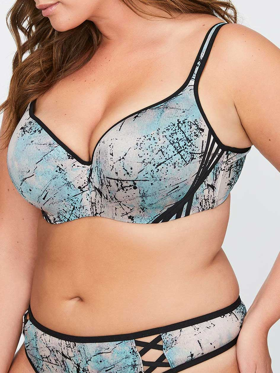Printed Contour Flirt Bra, Sizes G & H