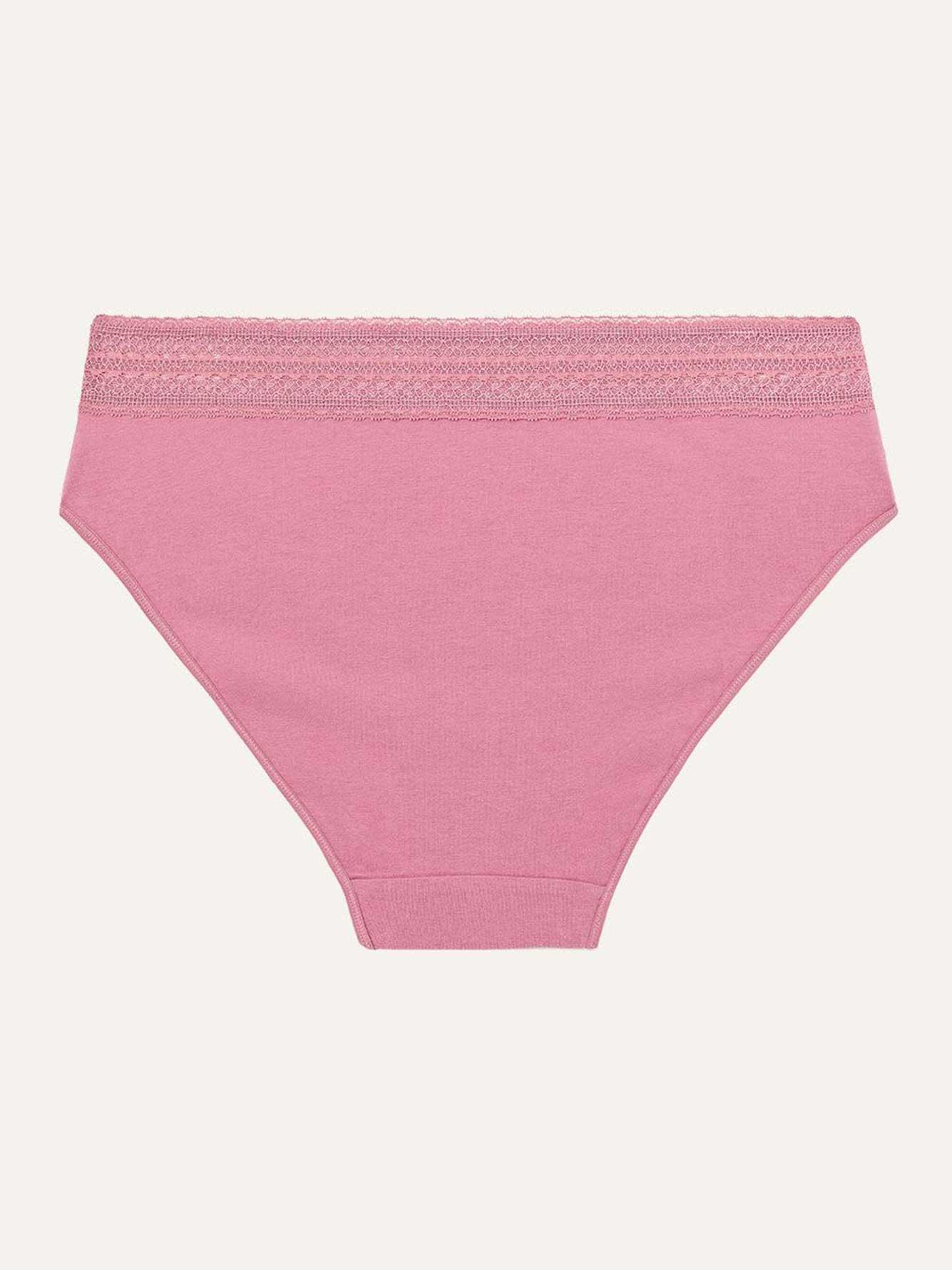 834f33c28 High Cut Cotton Panty with Lace - Déesse Collection