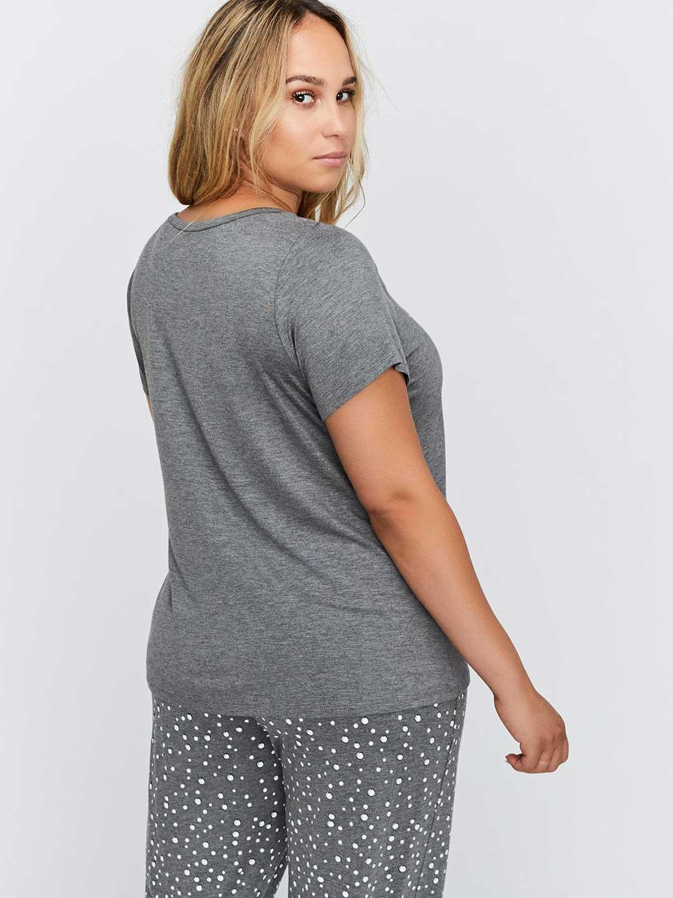 68a184634 PJ T-Shirt with Print - Déesse Collection | Addition Elle