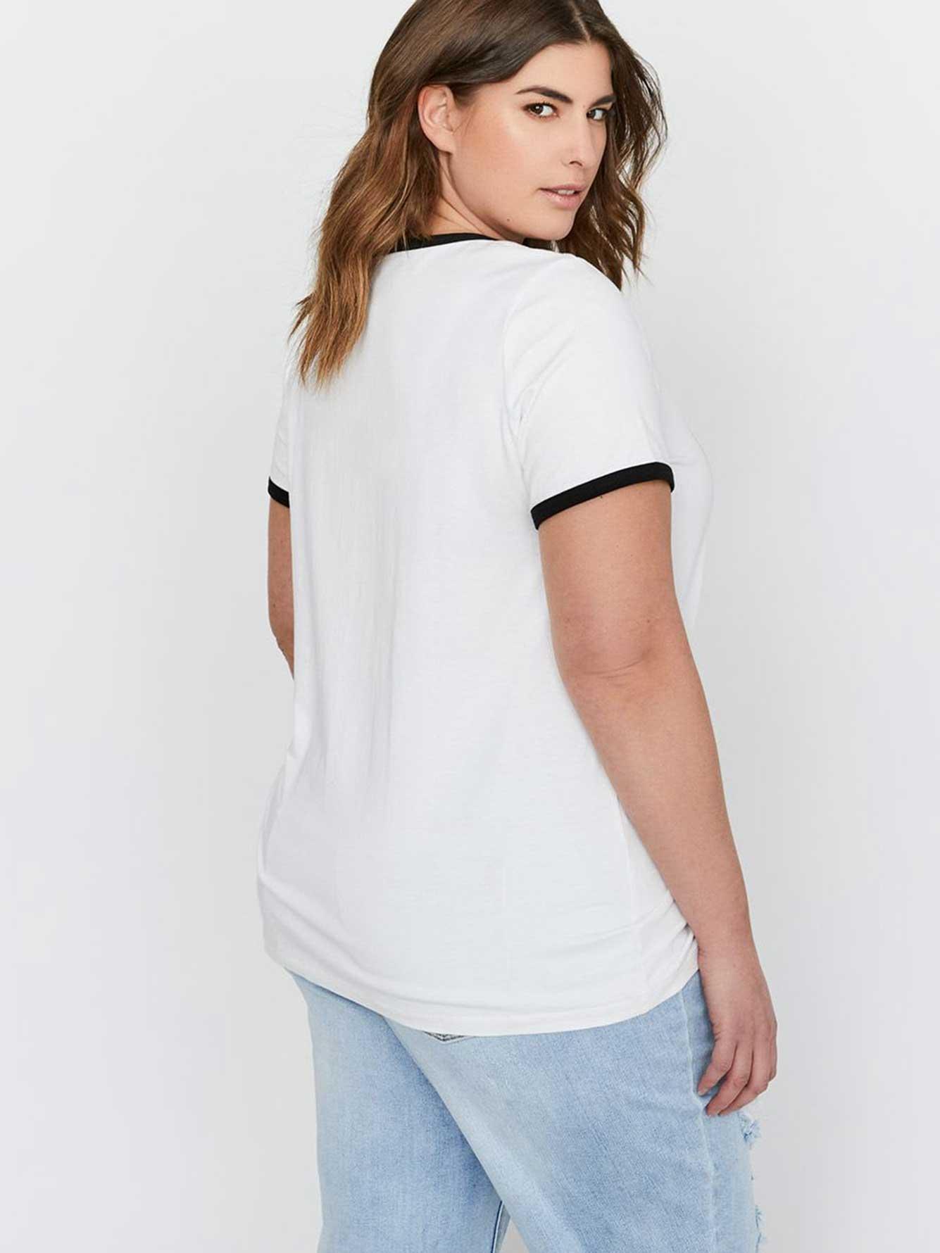 a4a19ef83a948 L L x Jordyn Woods Graphic Print T-Shirt