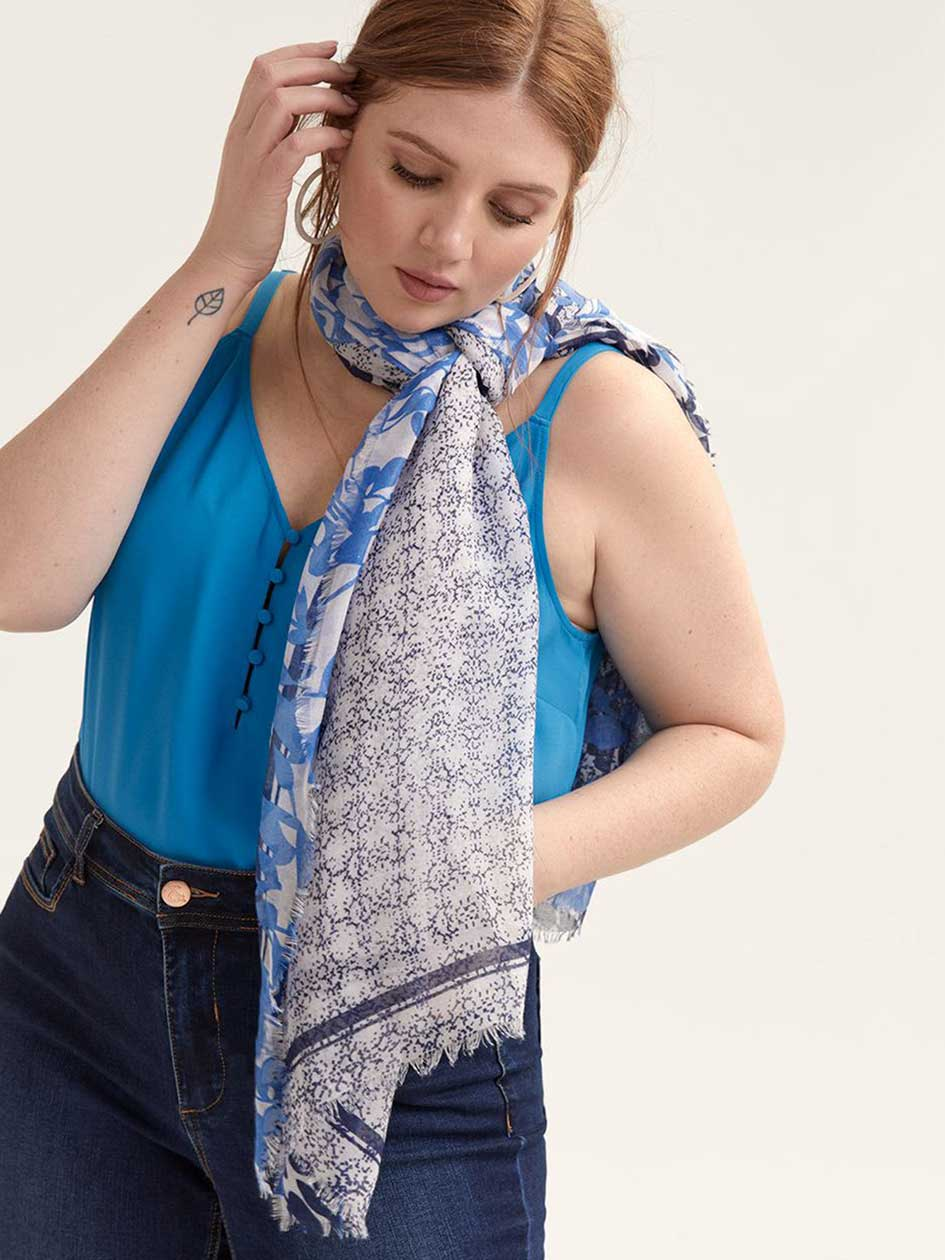 Abstract Patterned Light Scarf