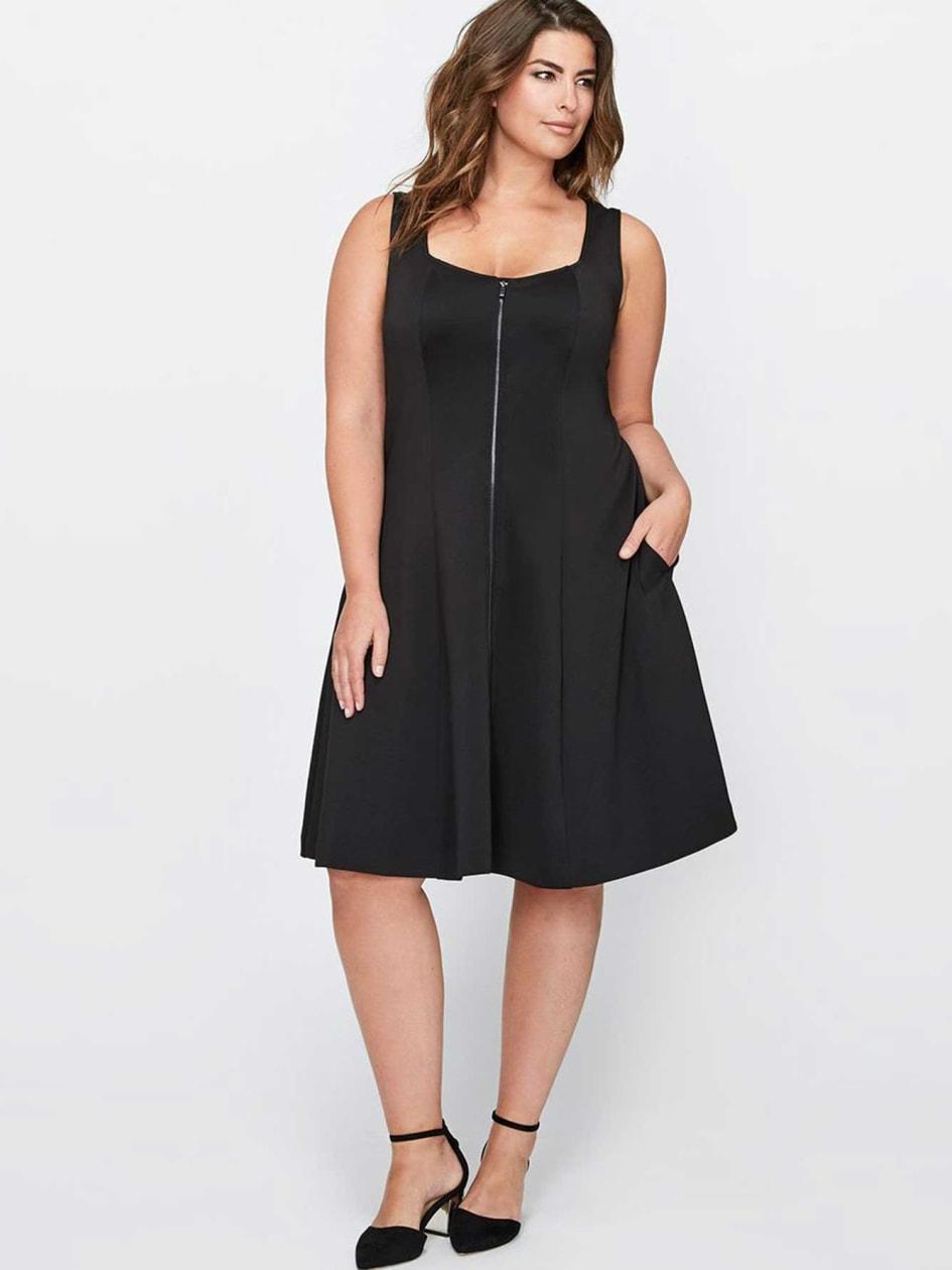 Michel Studio Sleeveless Dress with Zip