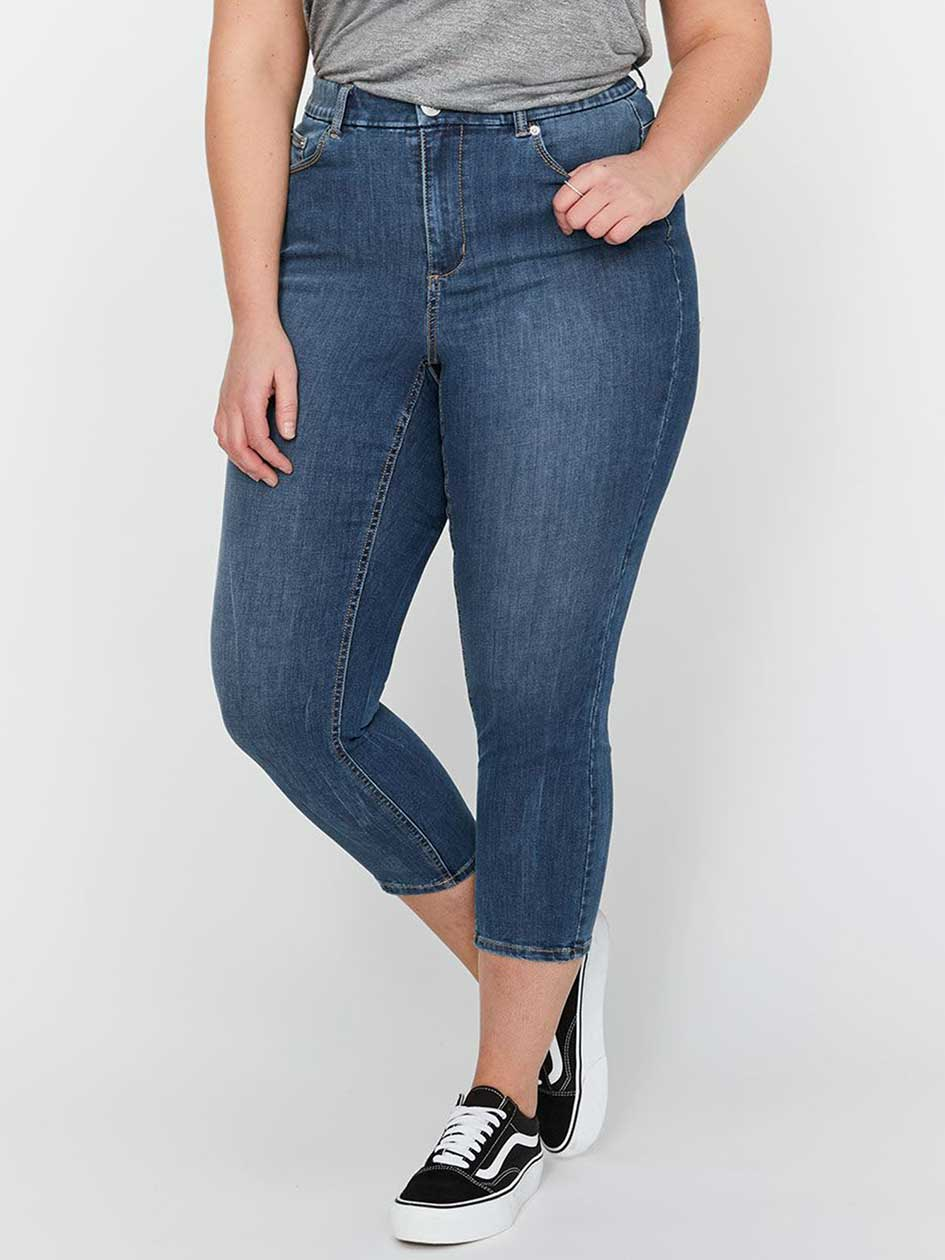 L&L Curvy Four-Way Stretch Cropped Jegging