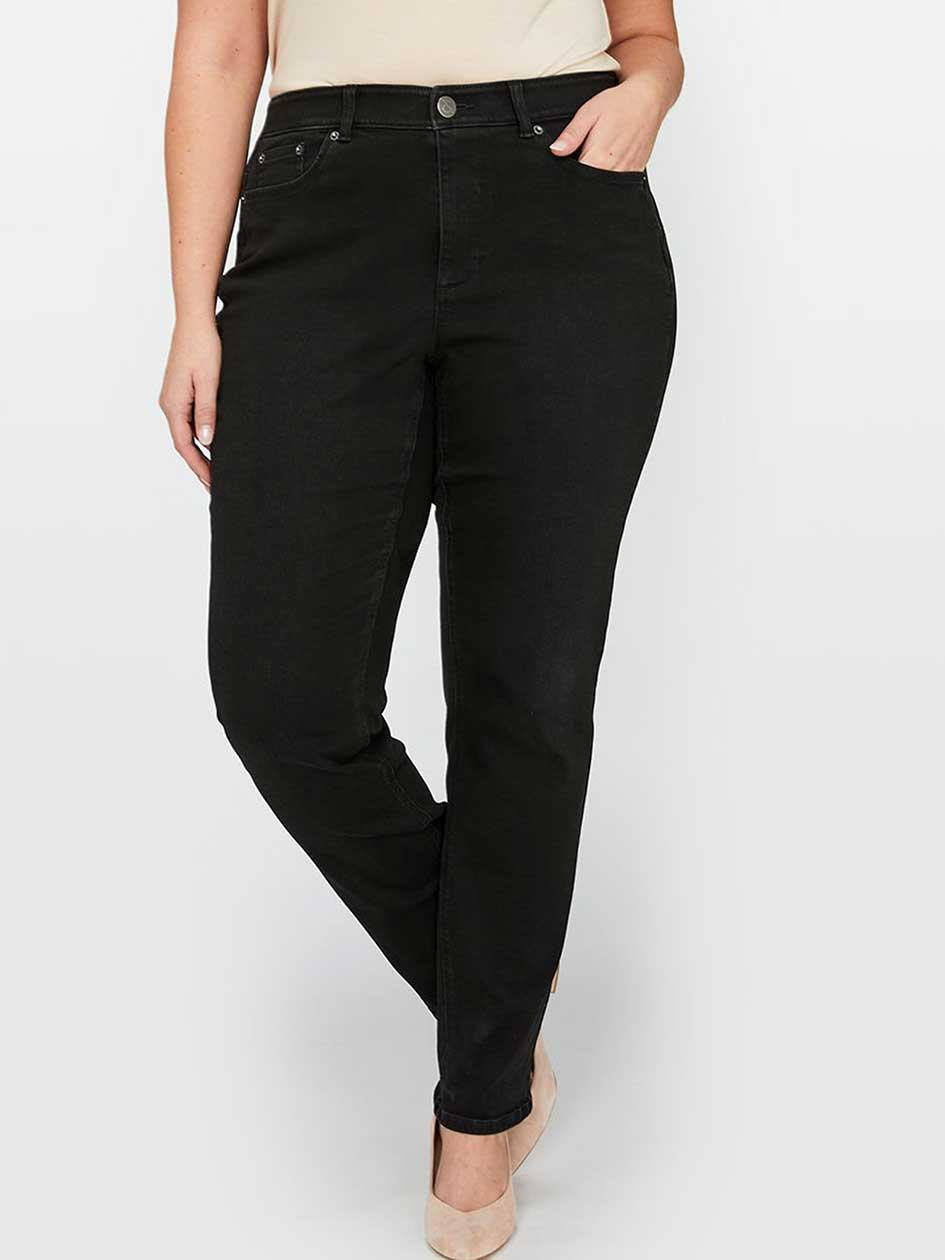 L&L Super Sculpt Slim Leg Jean, Curvy Fit