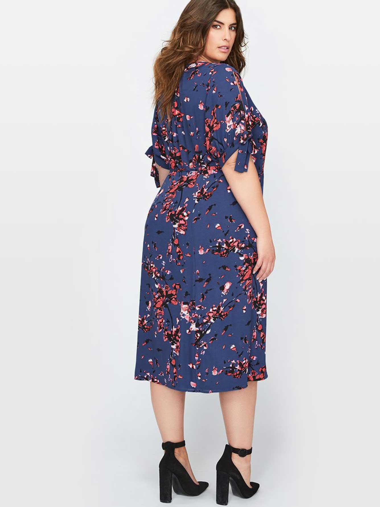 robe portefeuille imprim floral rachel roy addition elle. Black Bedroom Furniture Sets. Home Design Ideas