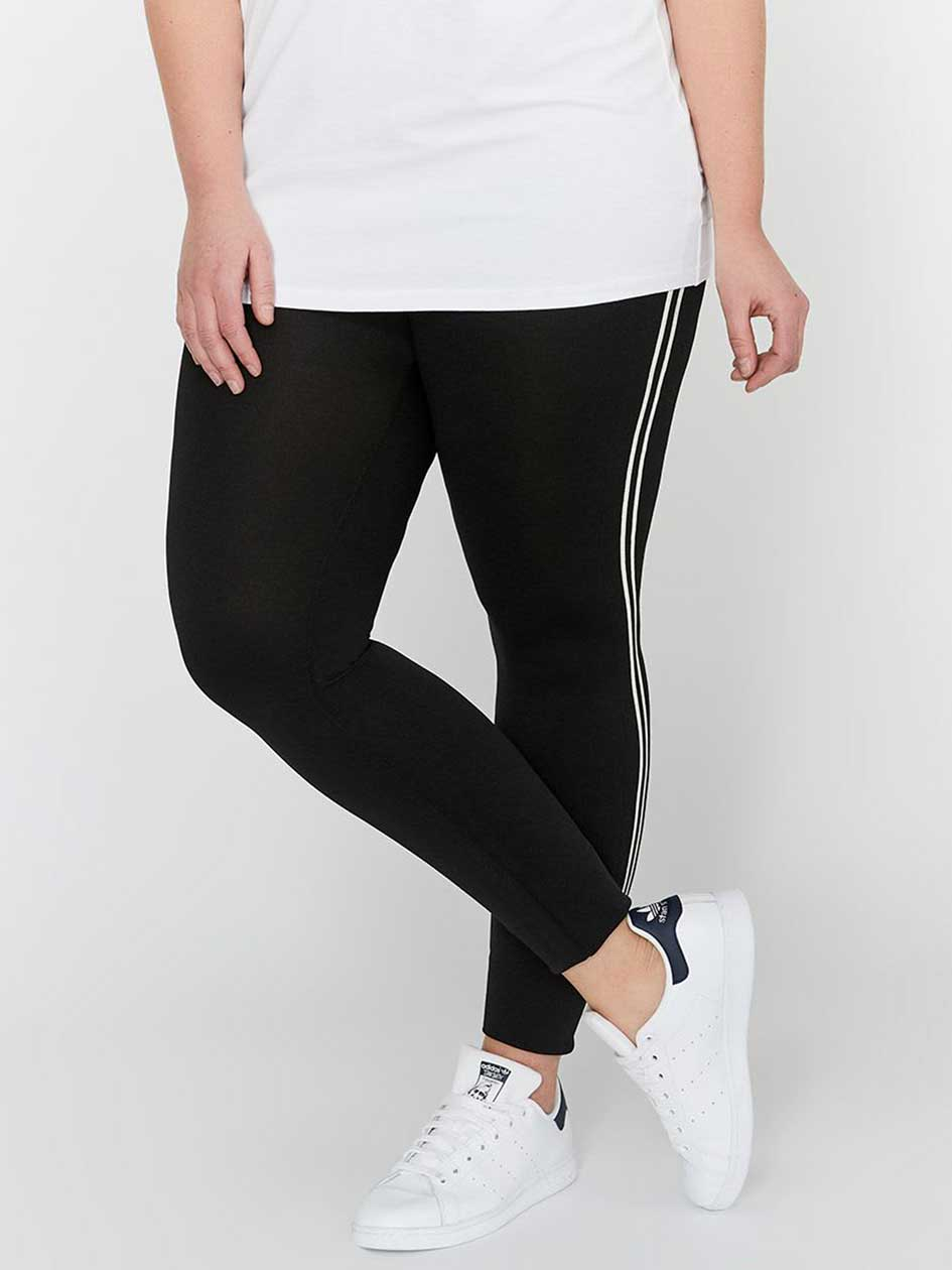 Legging with Cuff & Sporty Stripe