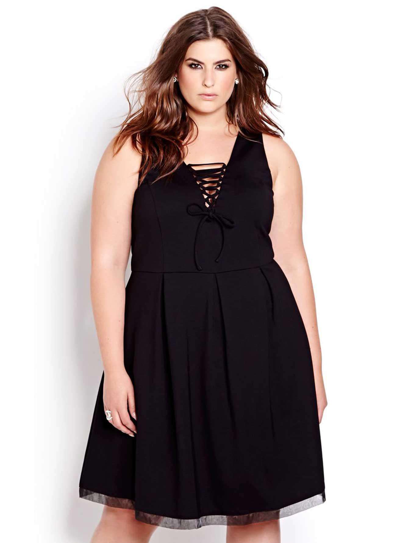 82db5a80169c7 L&L Sleeveless Lace Up Dress | Addition Elle