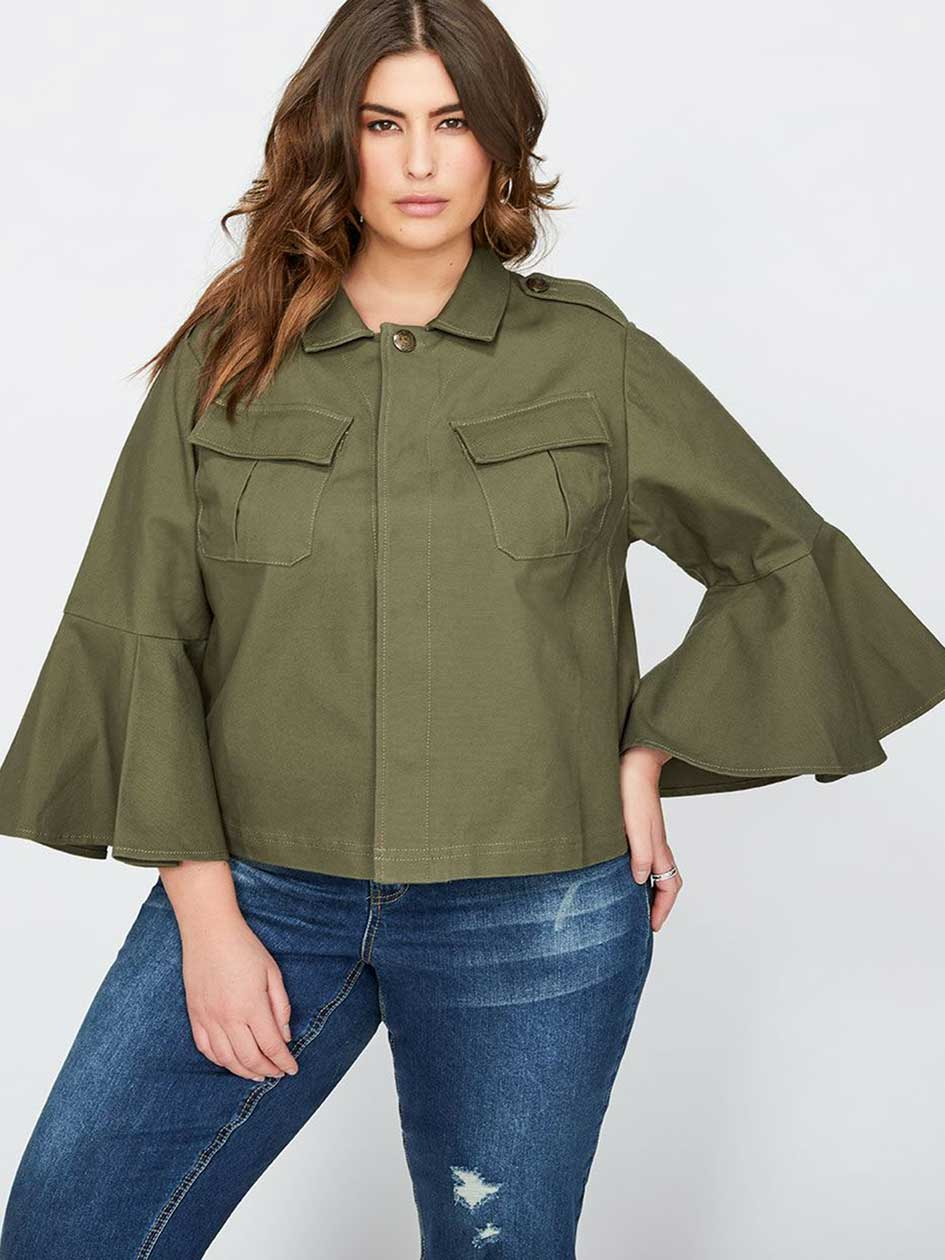 Rachel Roy Army Green Utility Jacket