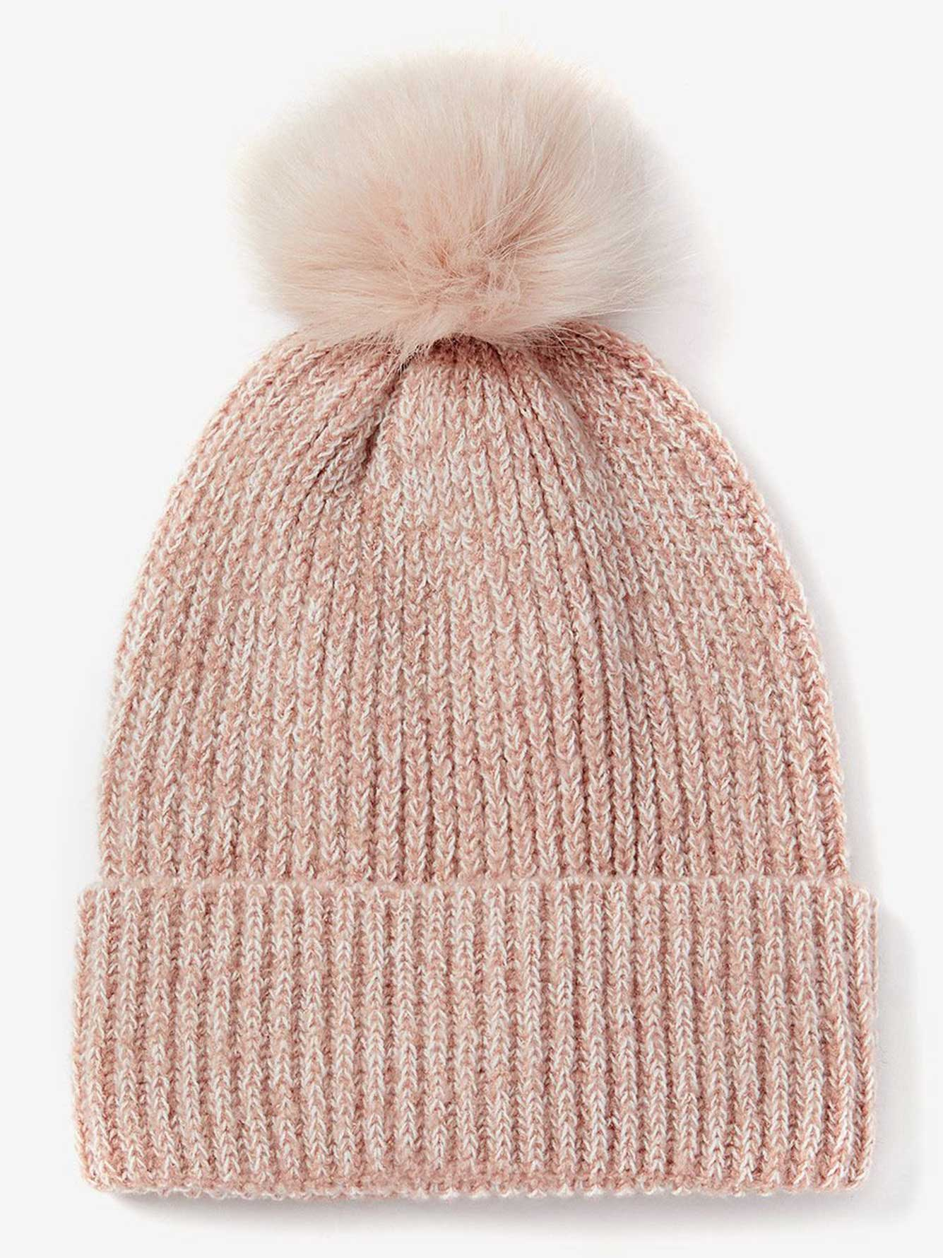 0f72d1e7a17d Faux Fur Pompom Ribbed Beanie. Be the first to