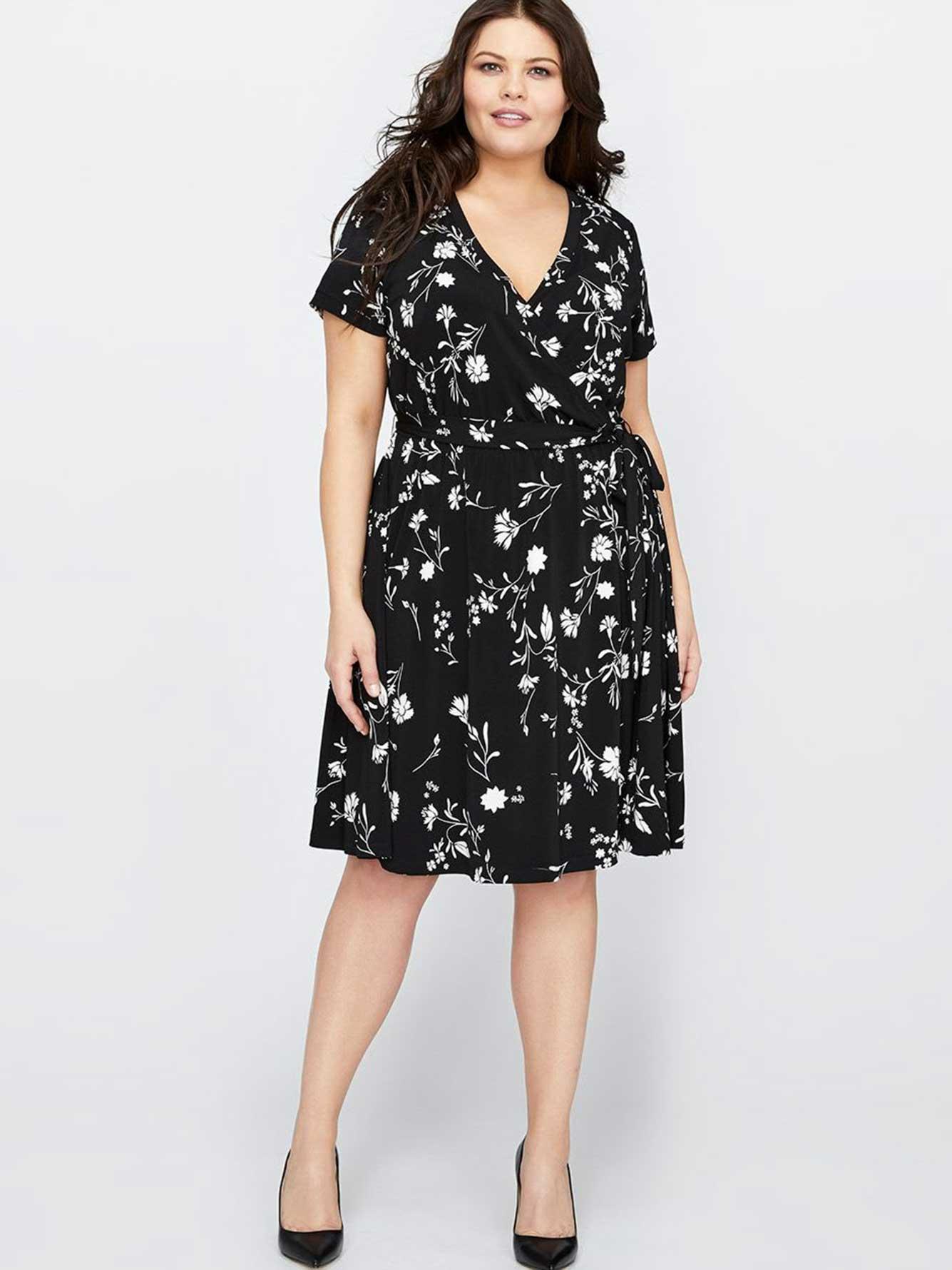 d640213ce4a Michel Studio Floral Wrap Dress