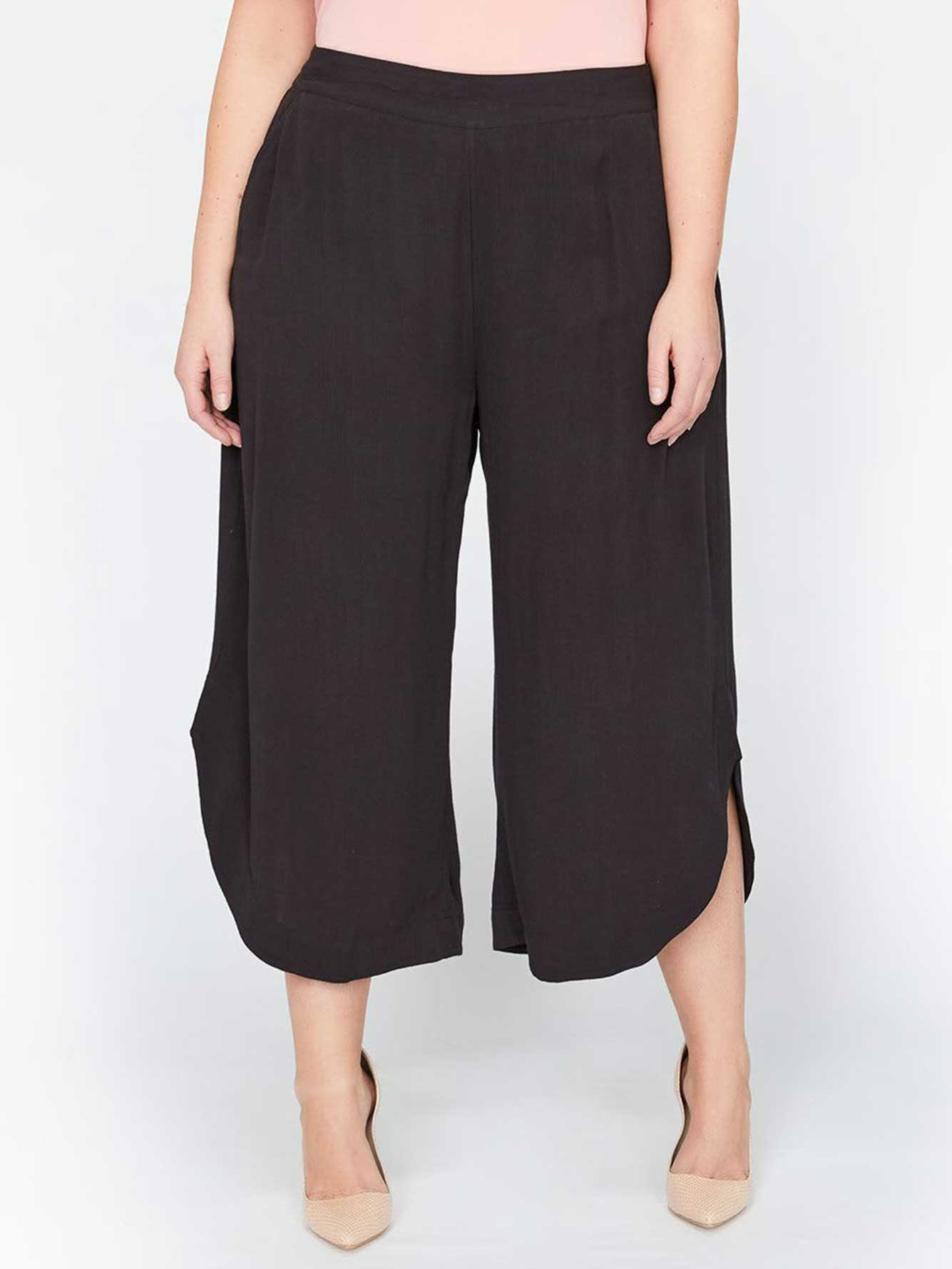 86e899a01ae6 Michel Studio Wide-Leg Cropped Pants with Tulip Hem | Addition Elle