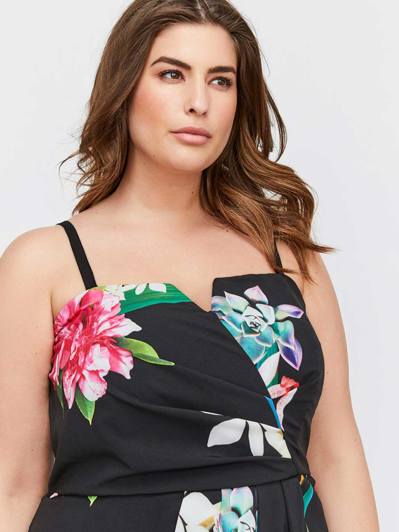 648efac55c City Chic Maxi Floral Strapless Dress