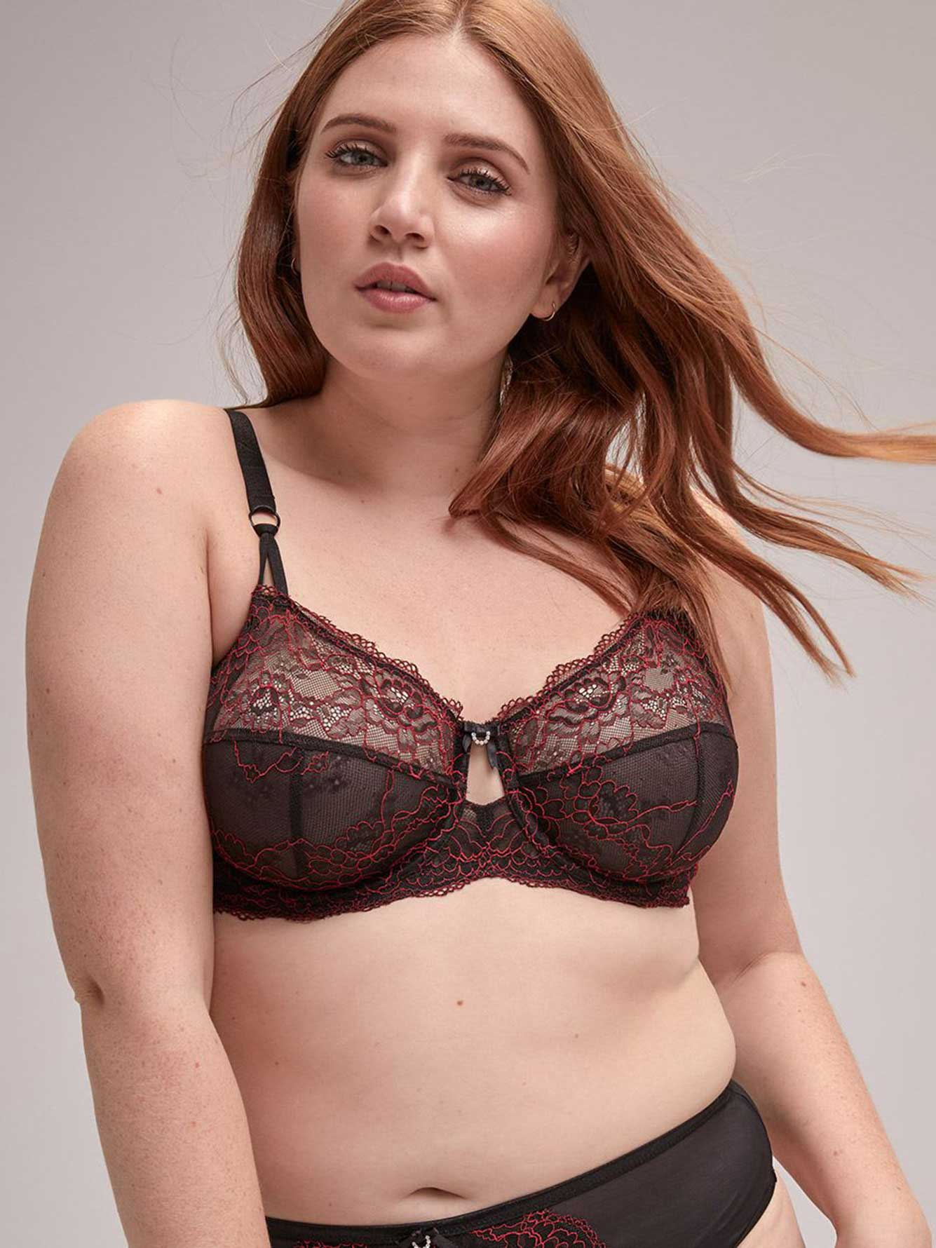 Femme Couture Bra with Contrasting Lace - Déesse Collection