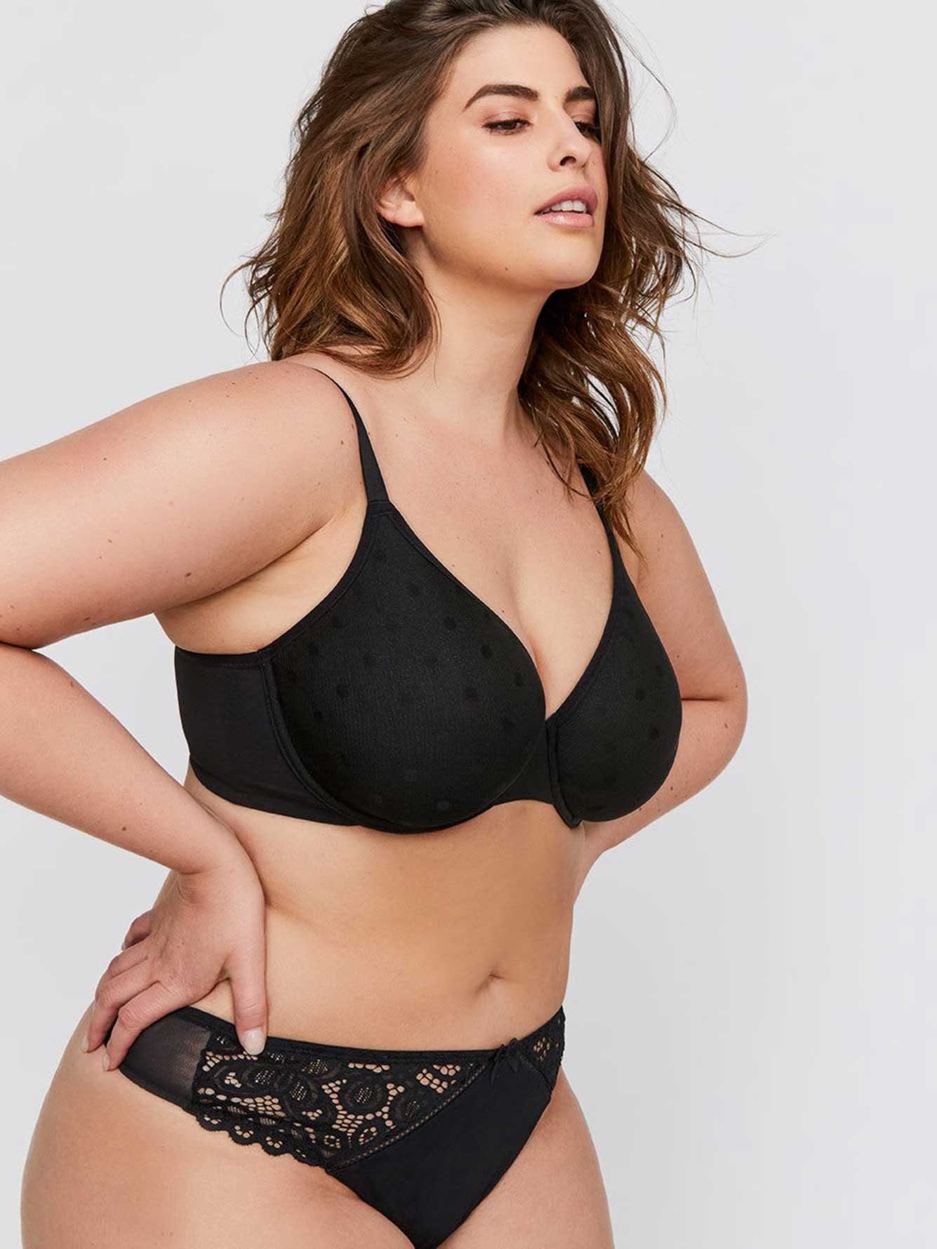Smooth Operator Polka Dot Mesh Bra - Déesse Collection