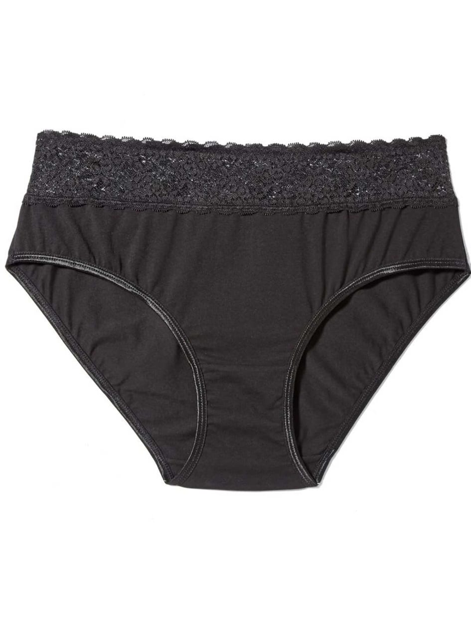 hi cut panty with lace band