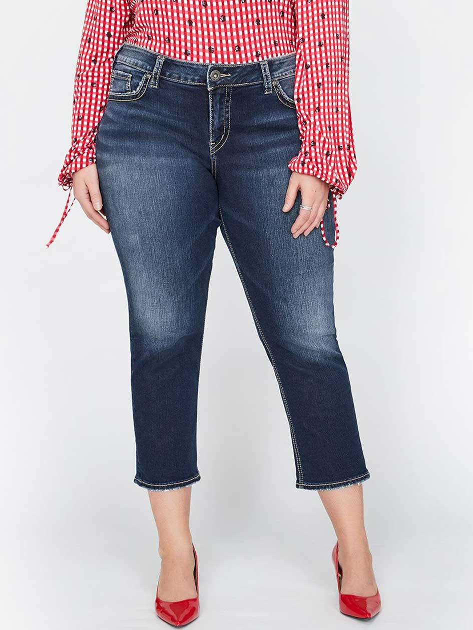 Silver Elyse Capri Jeans