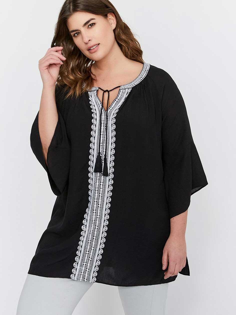 Michel Studio Tunic with Embroidery