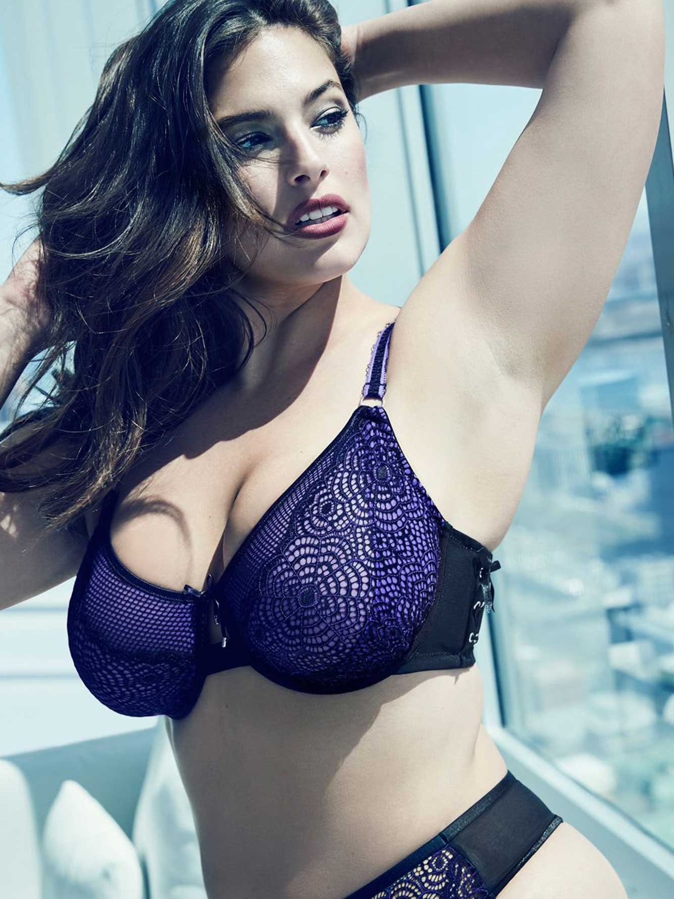 32ee899e585 Ashley Graham Fatal Attraction Bra with Laced Up Side
