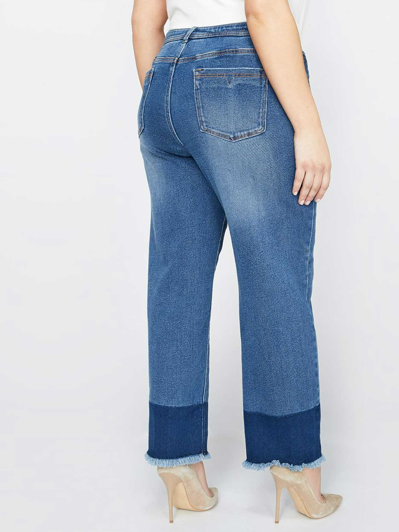 L&L Authentic Slim Jean with Released Hem, Relaxed Fit