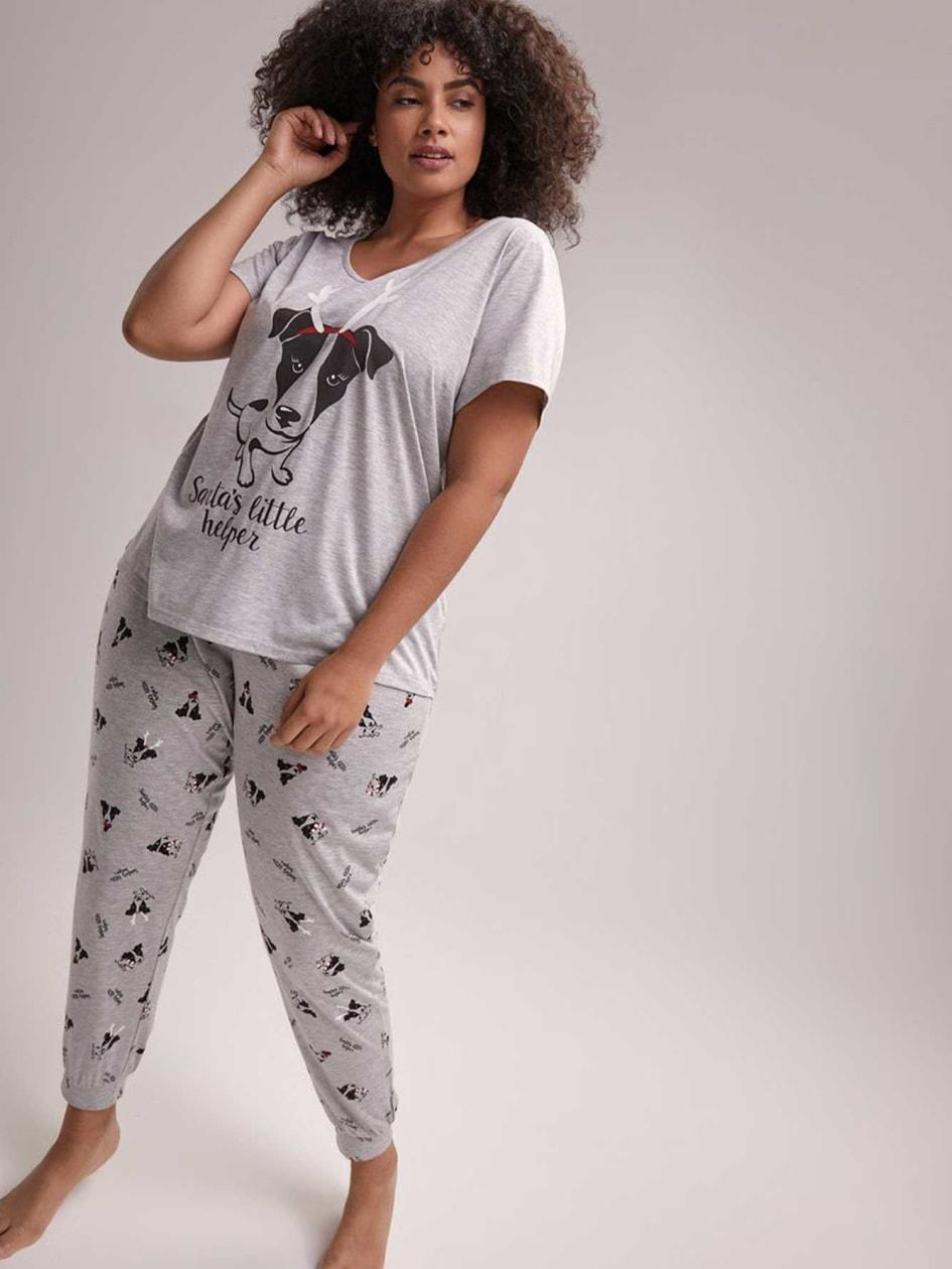 ff89f8a701 Santa s Little Helper T-Shirt and Jogger Pajama Set - Déesse Collection