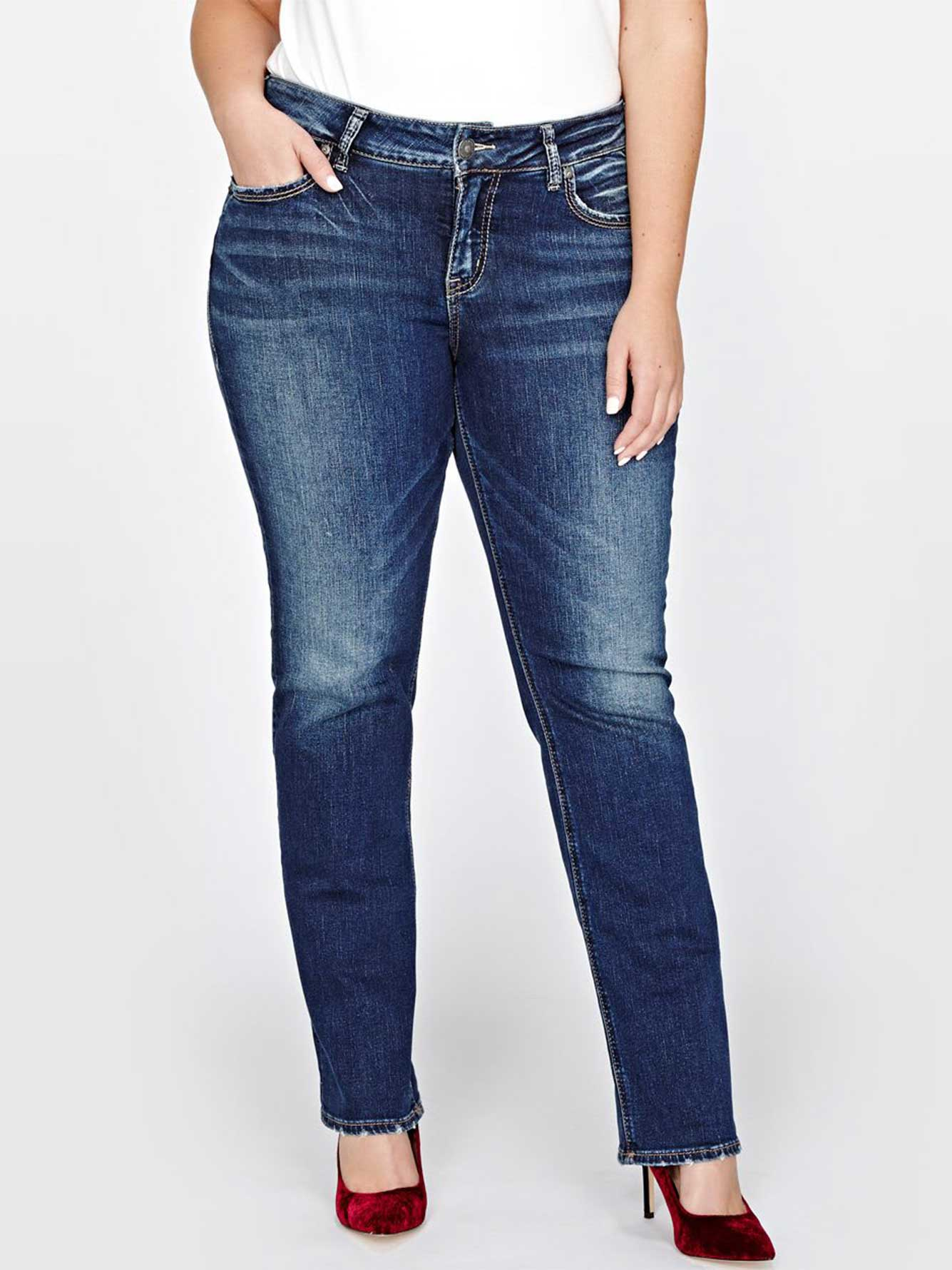 Silver Jeans are some of our best quality jeans and they are so stylish, it's hard to choose just one pair! Looking for some summer jeans? We have light wash Silver .