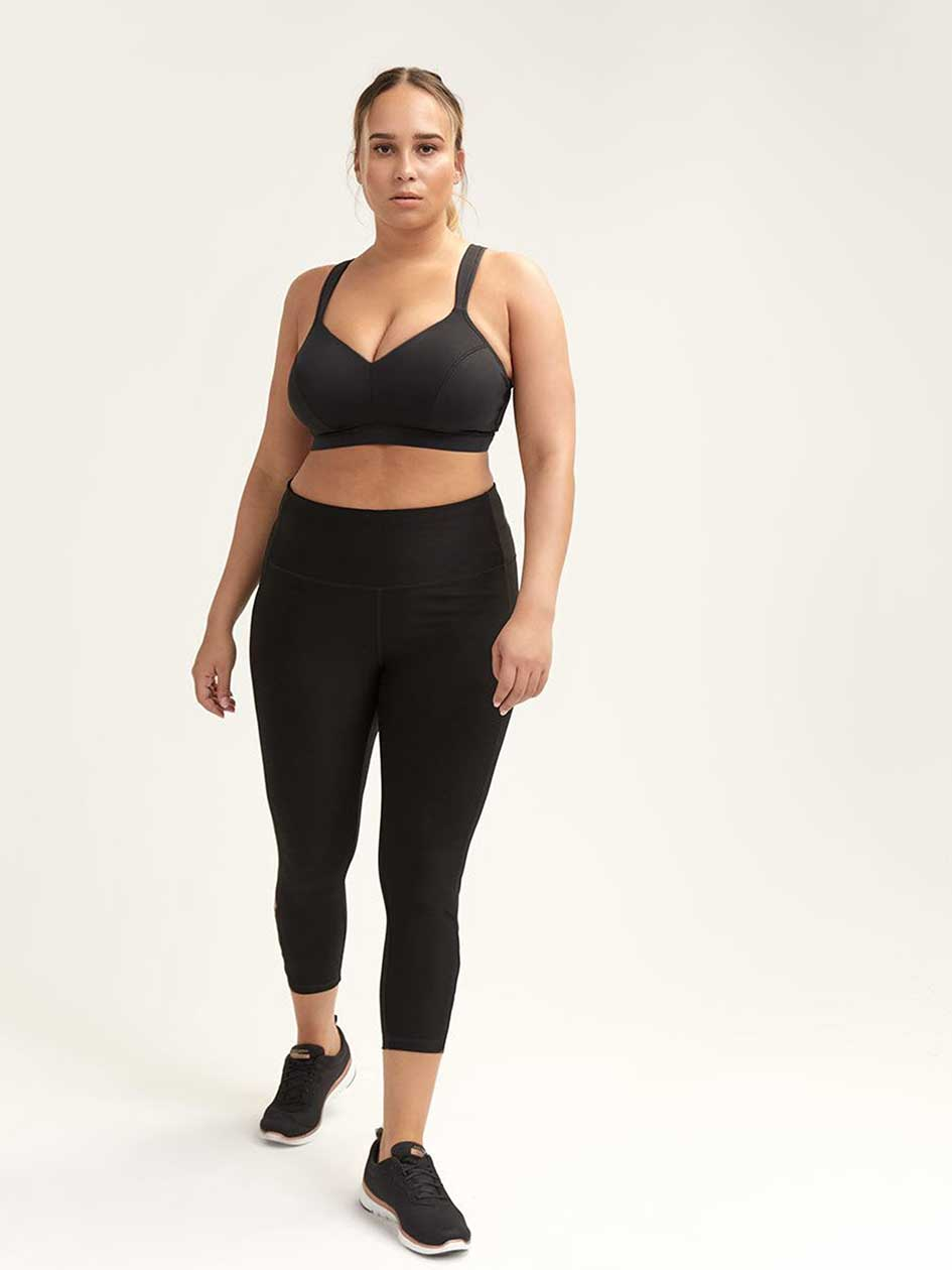 b4ffbcefa2065 Black Legging with Mesh Inserts - Nola