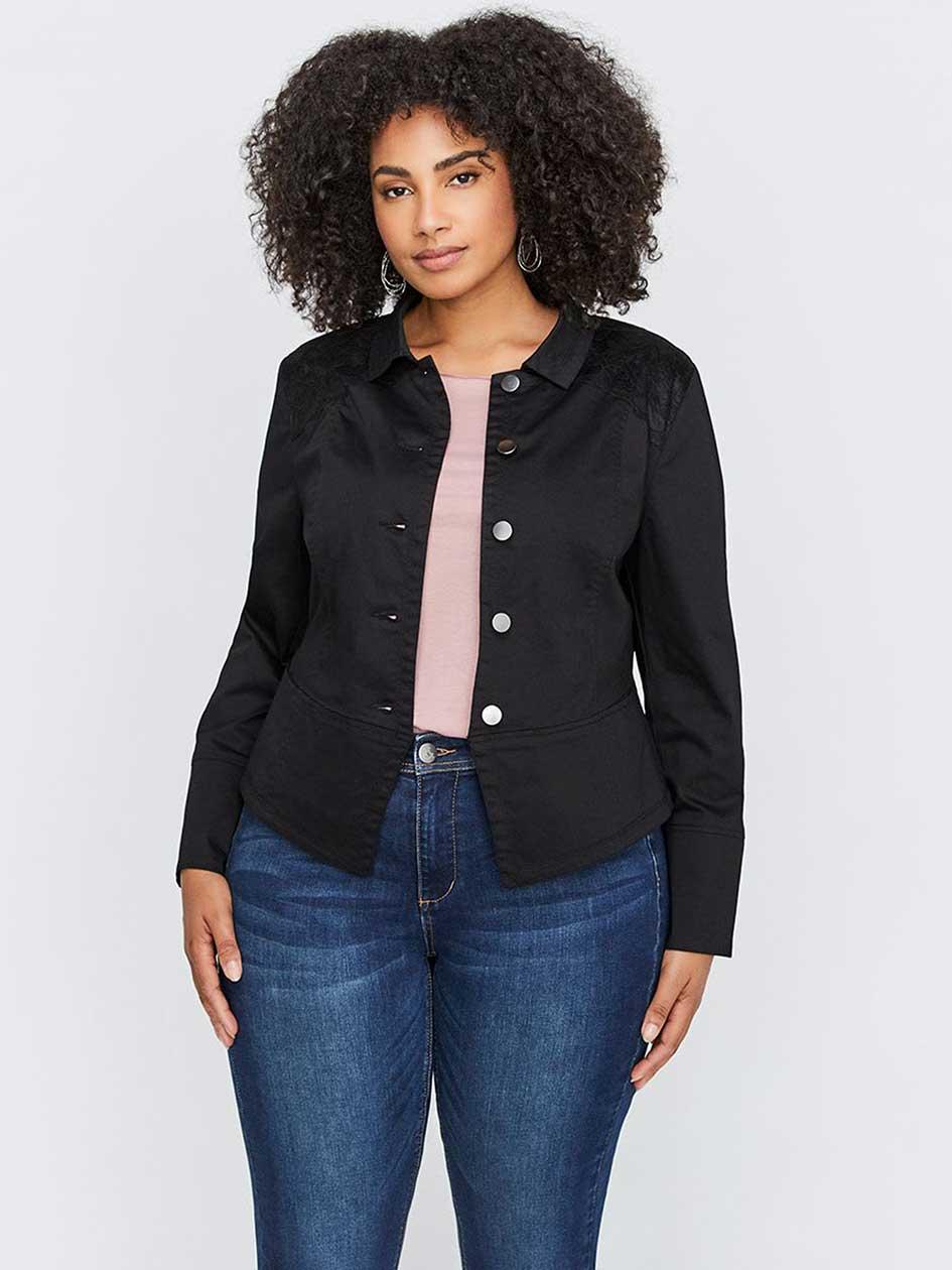 Veste mi jean mi coton femme