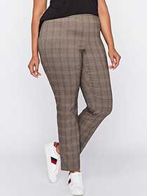 Slim Leg Plaid Pant - Michel Studio