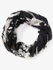 Lightweight Floral Print Infinity Scarf