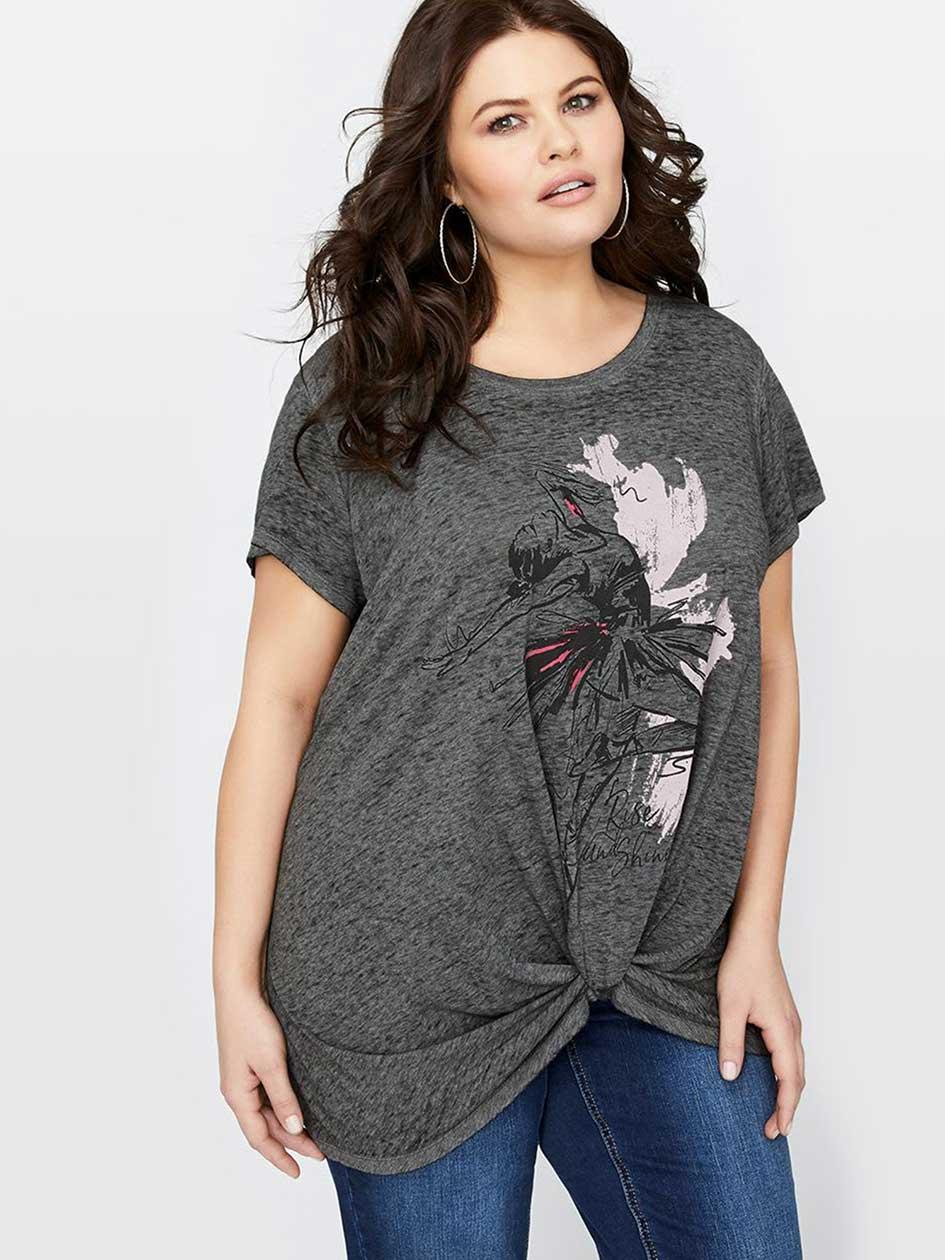 L&L Twist Front T-Shirt