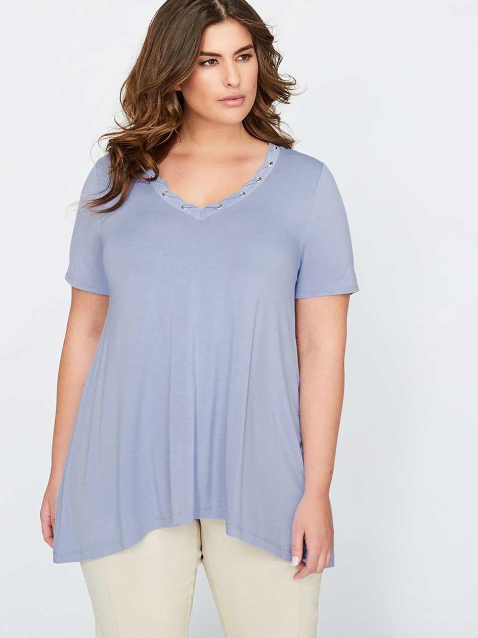 Michel Studio Swing Short Sleeve Shirt