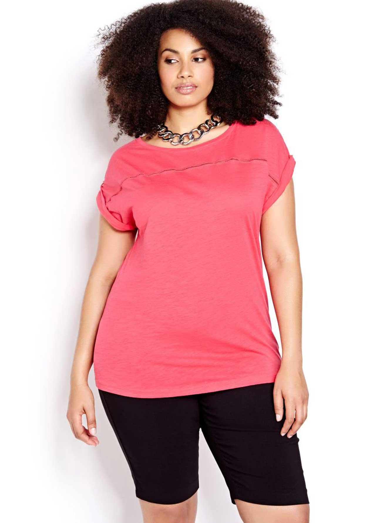 Short Sleeve Boat Neck T Shirt Addition Elle