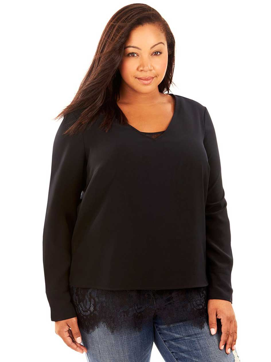 Rebel Wilson Double Layer Top With Lace